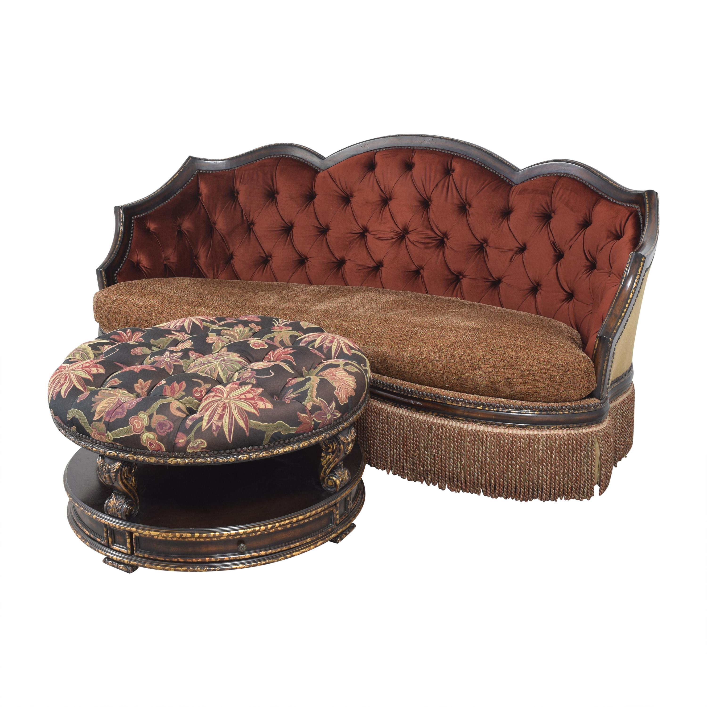 ABC Carpet & Home ABC Carpet & Home Ornate Sofa with Ottoman nj