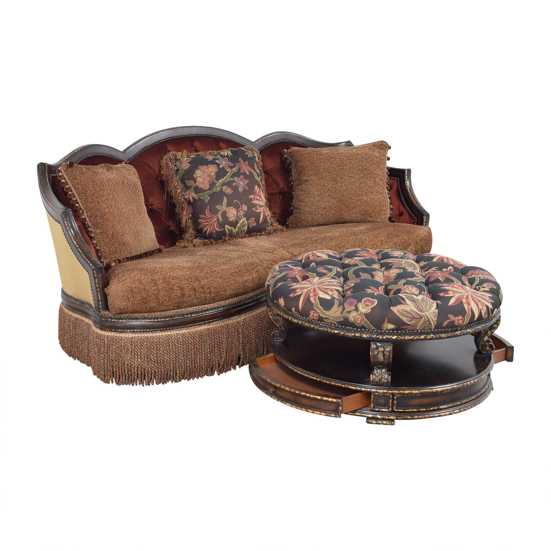 buy ABC Carpet & Home Ornate Sofa with Ottoman ABC Carpet & Home Classic Sofas
