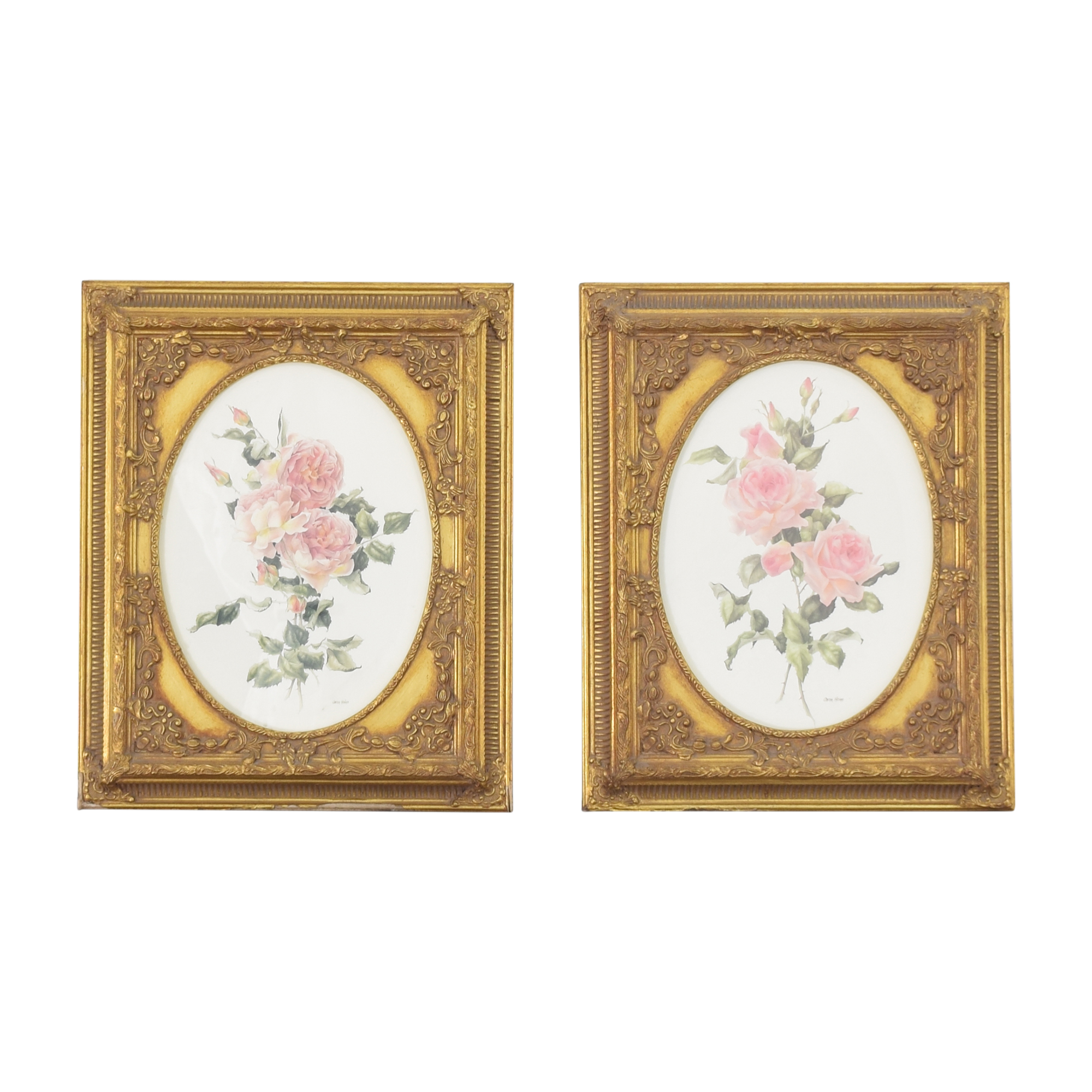 Framed Floral Wall Art Decor