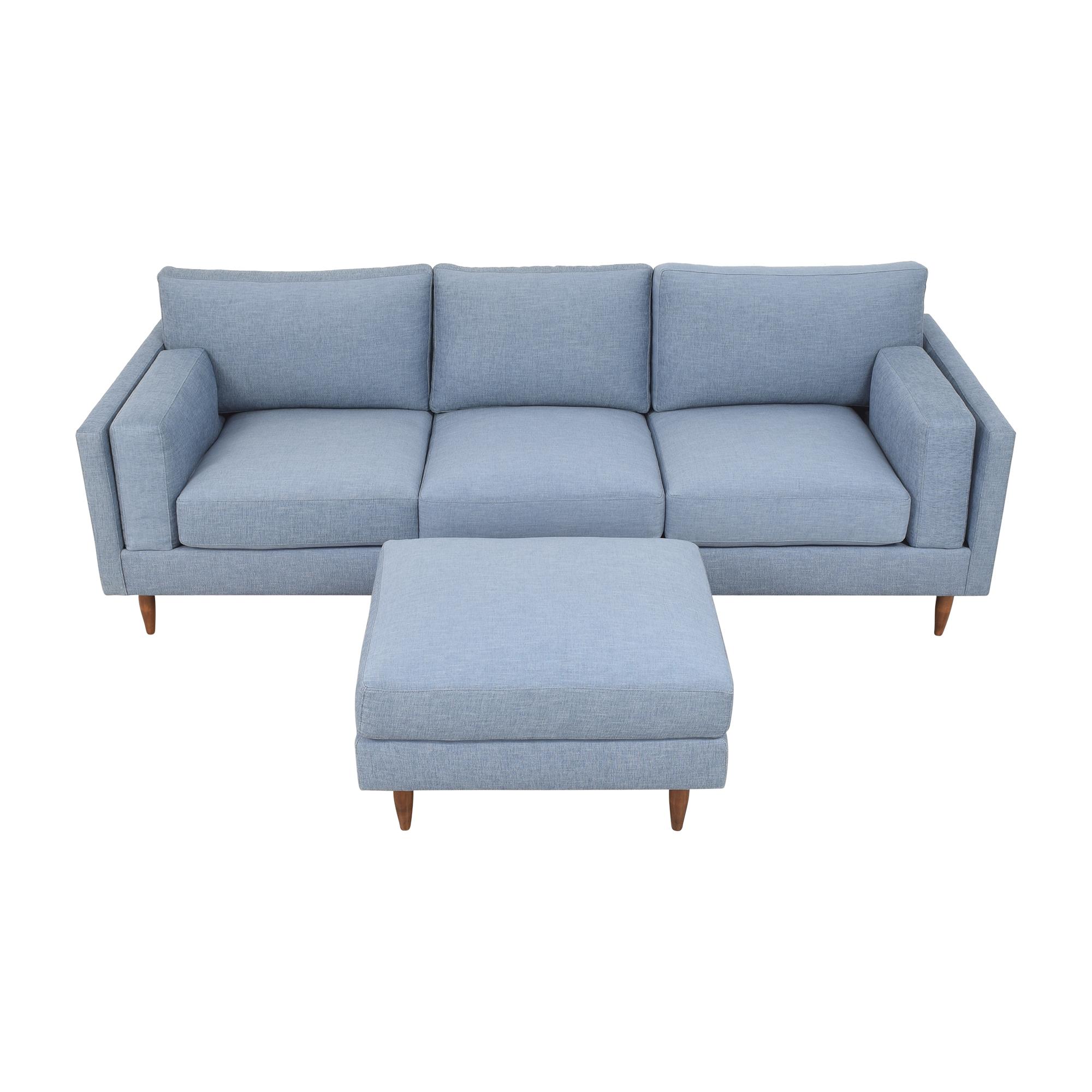 BenchMade Modern BenchMade Modern Skinny Fat Sofa with Ottoman on sale