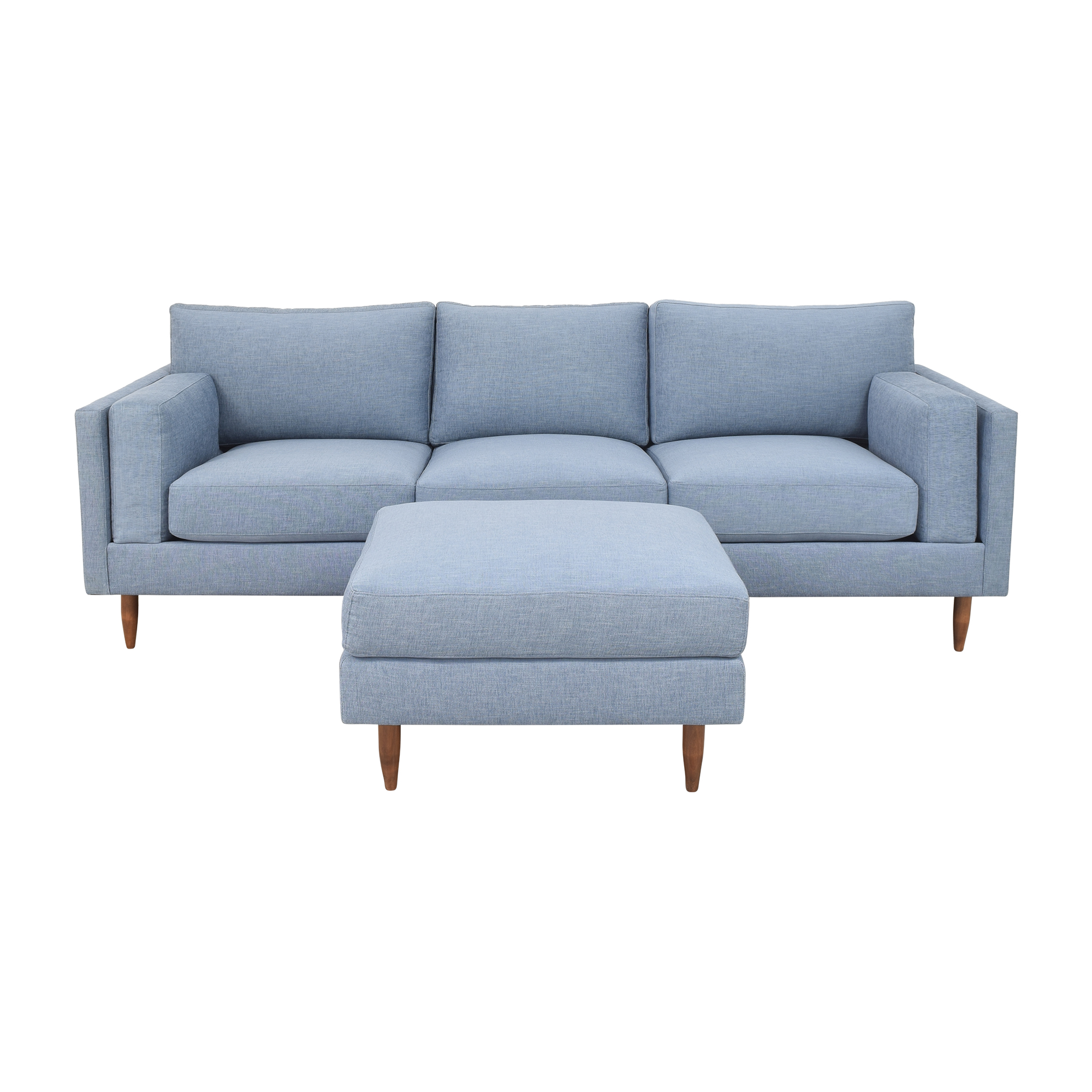 BenchMade Modern BenchMade Modern Skinny Fat Sofa with Ottoman on sale
