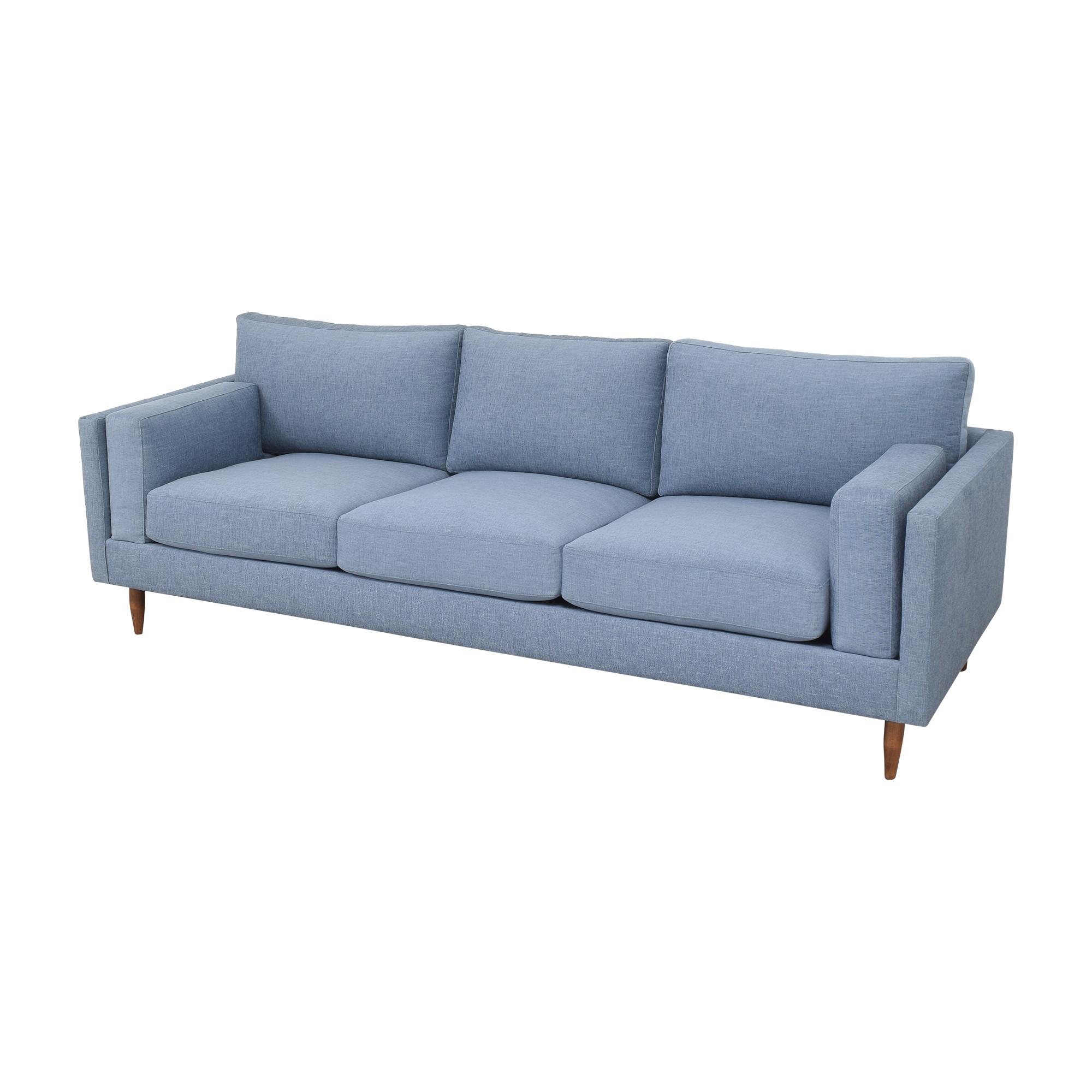 BenchMade Modern BenchMade Modern Skinny Fat Sofa with Ottoman ma