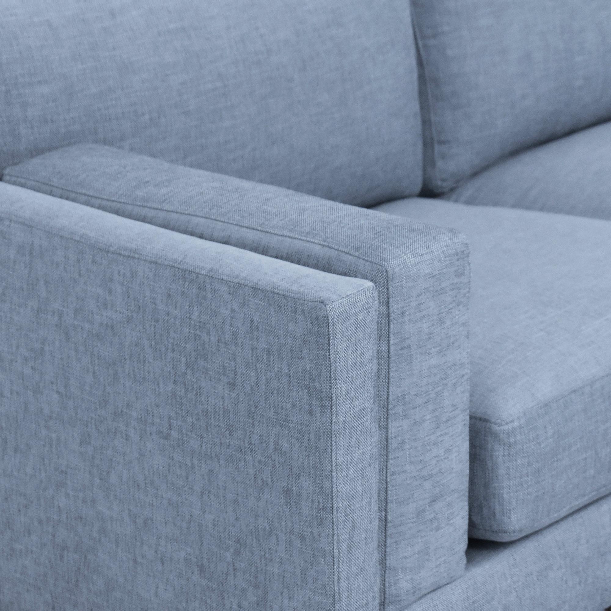 buy BenchMade Modern Skinny Fat Sofa with Ottoman BenchMade Modern
