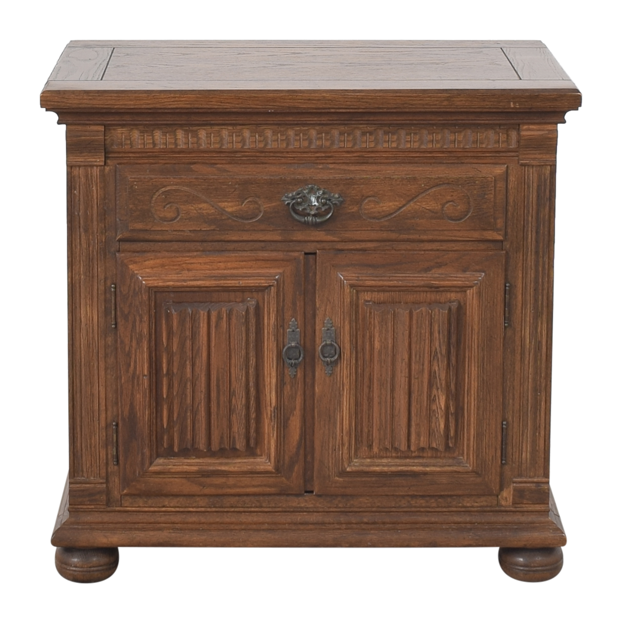 Ethan Allen Ethan Allen Royal Charter Commode Nightstand  brown