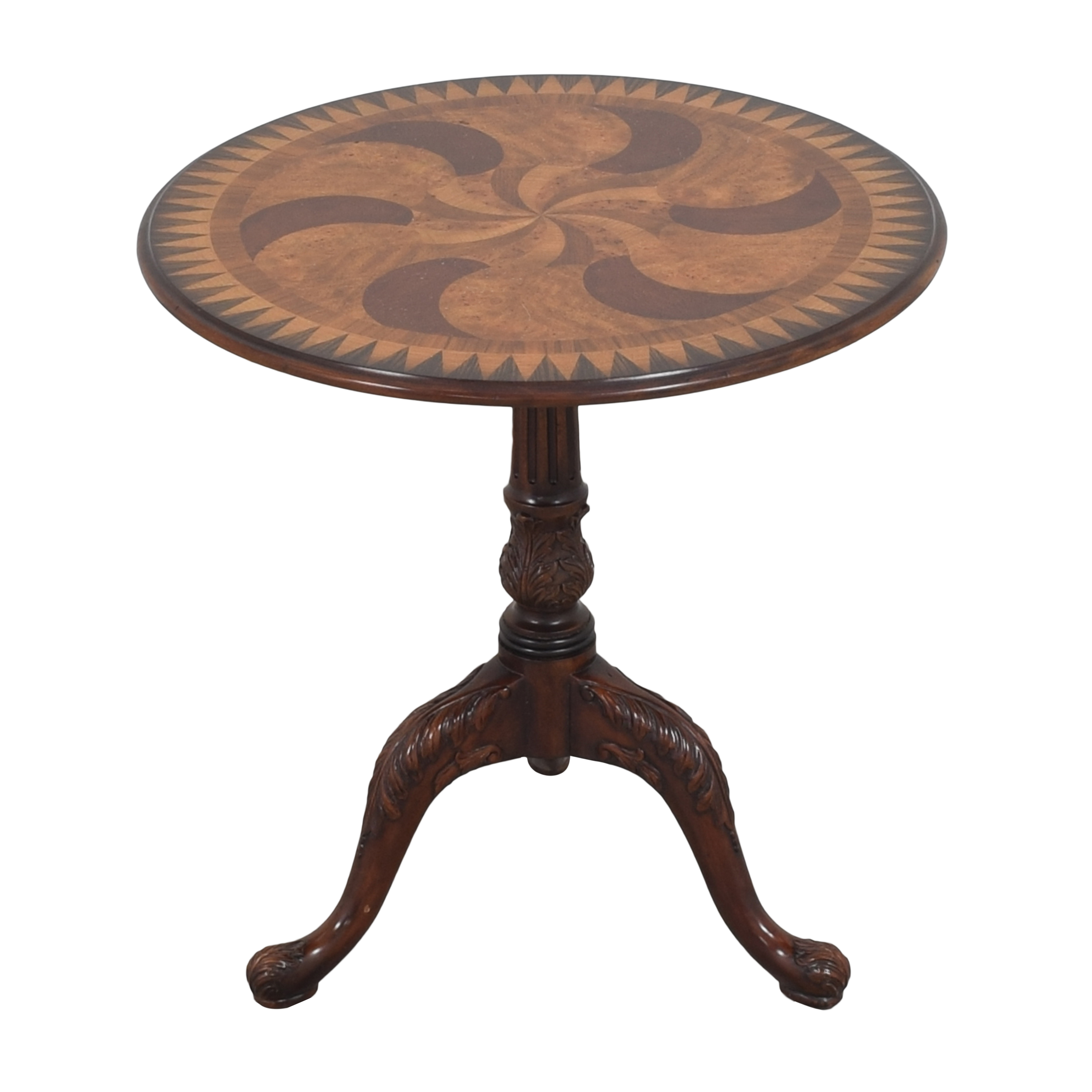 Theodore Alexander Swirl-Top Side Table / Tables