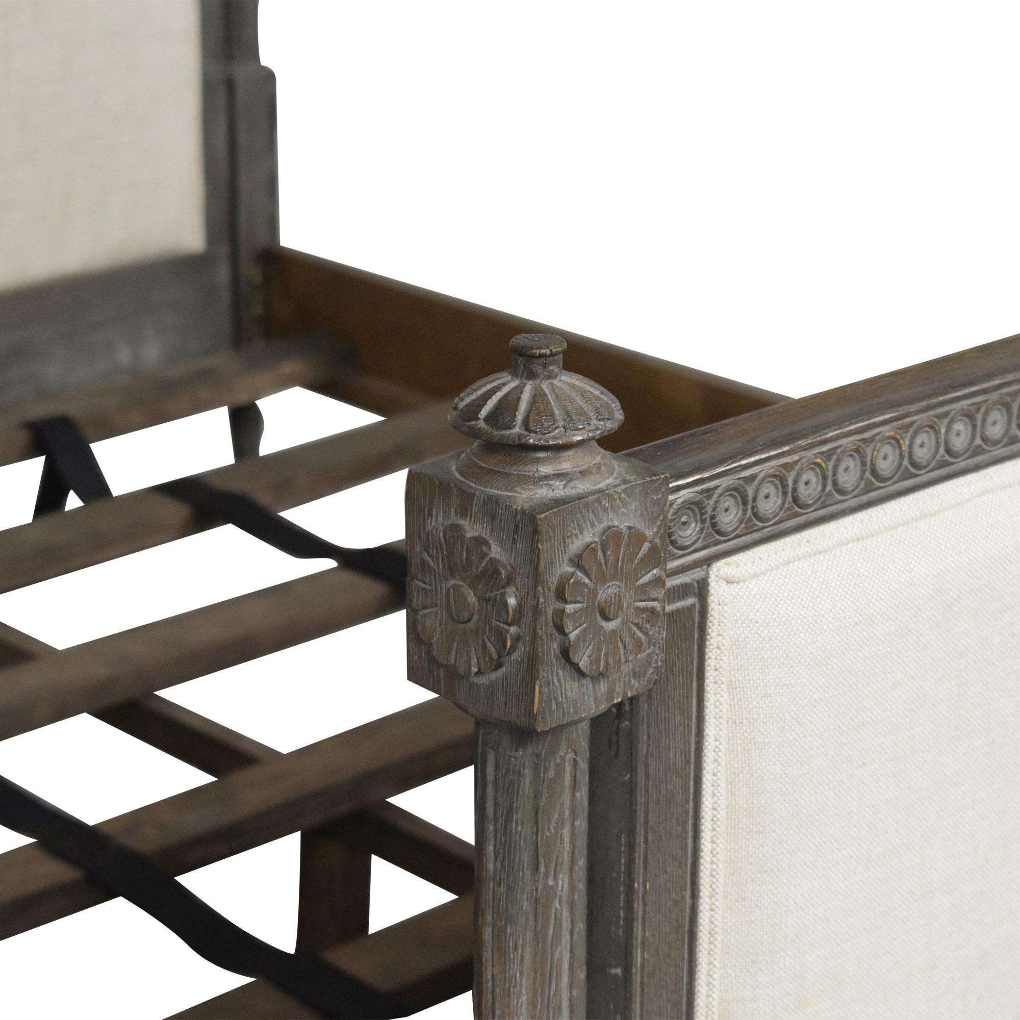 Restoration Hardware French-Style Upholstered Queen Bed Restoration Hardware