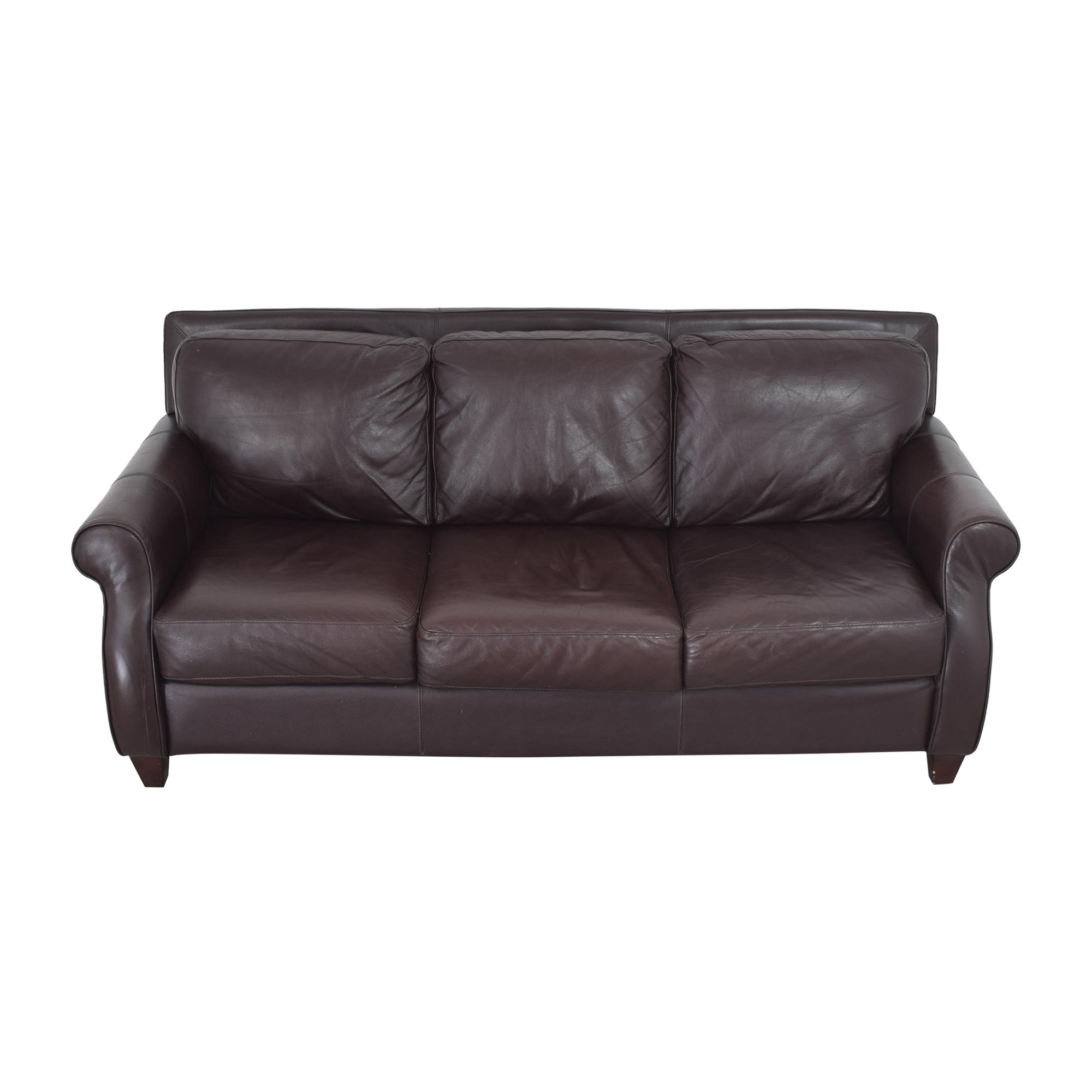 shop Raymour & Flanigan Three Cushion Sofa Raymour & Flanigan