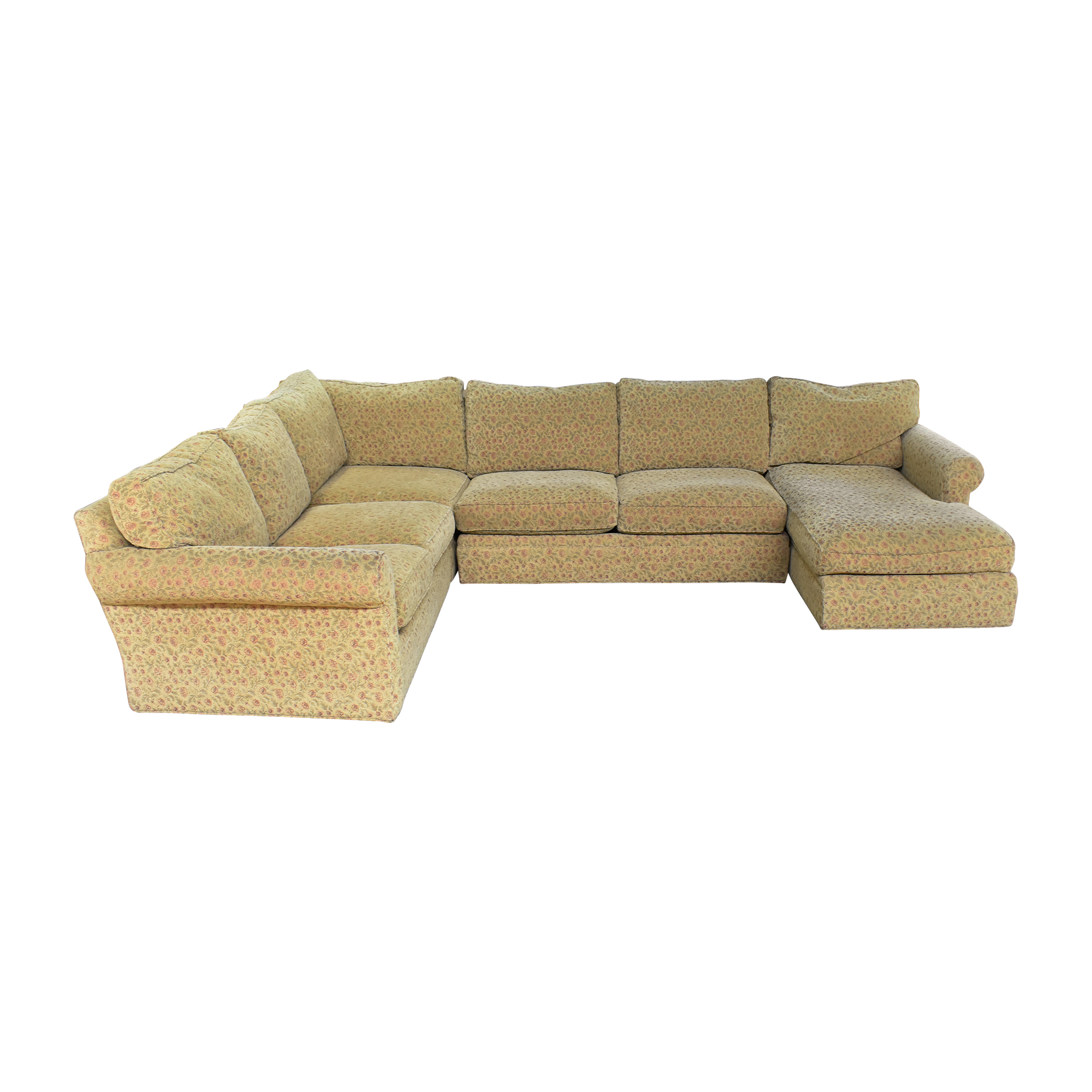 shop Crate & Barrel Huntley Chaise U Sectional Sofa Crate & Barrel Sectionals