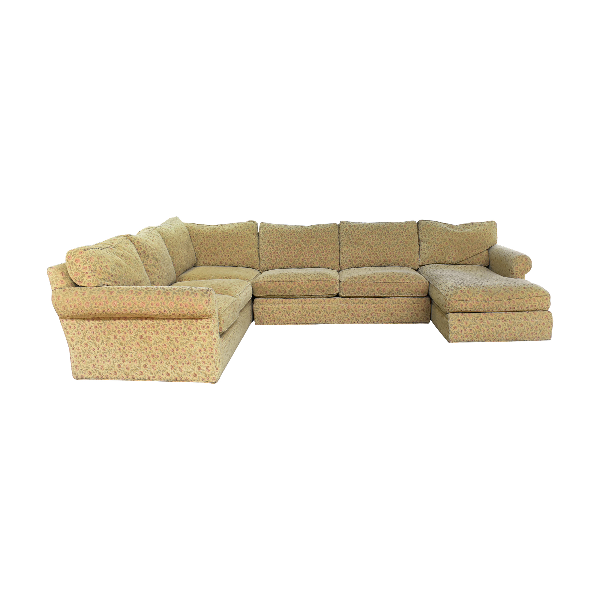 shop Crate & Barrel Huntley Chaise U Sectional Sofa Crate & Barrel Sofas