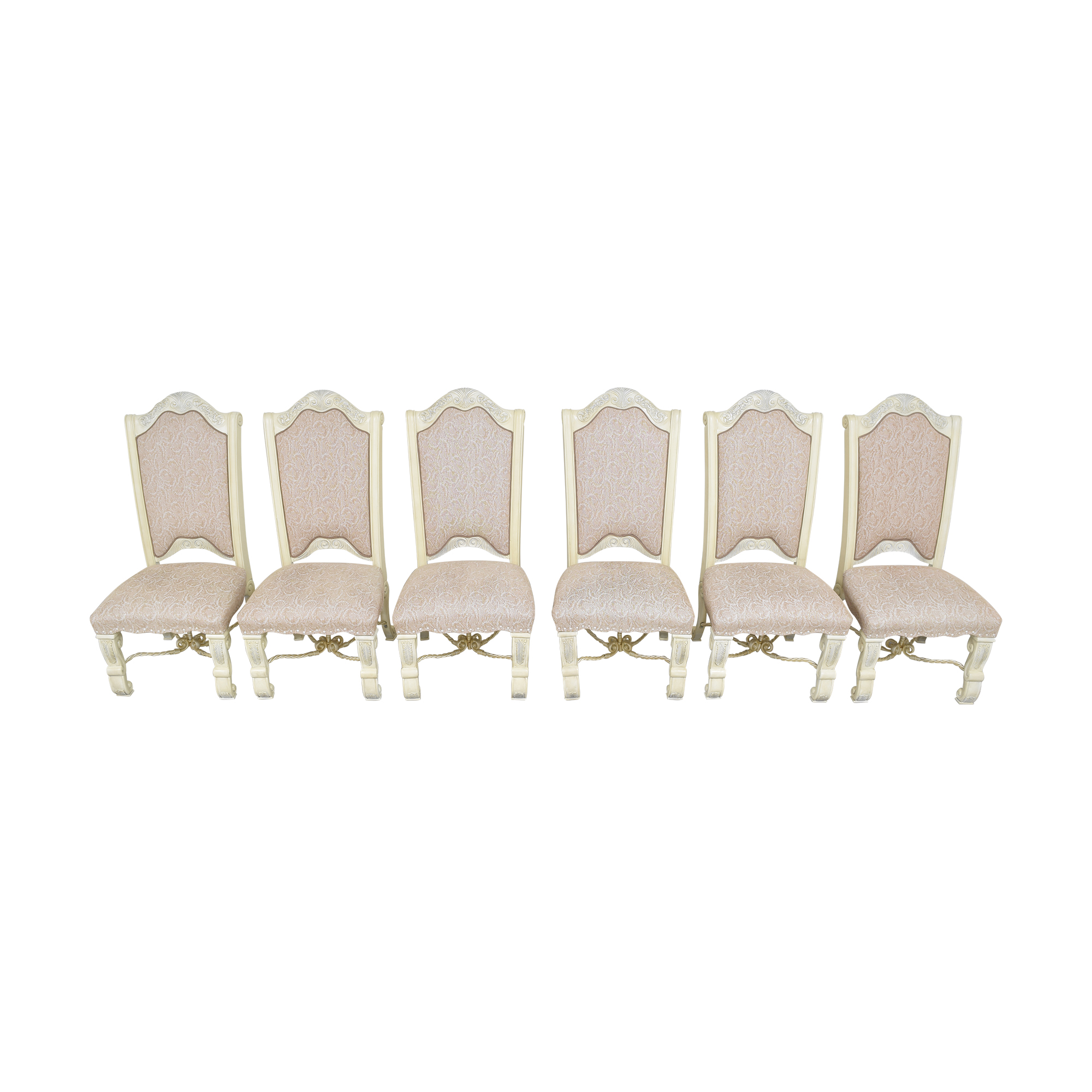 shop AICO Furniture Monte Carlo Snow Dining Side Chairs AICO Chairs