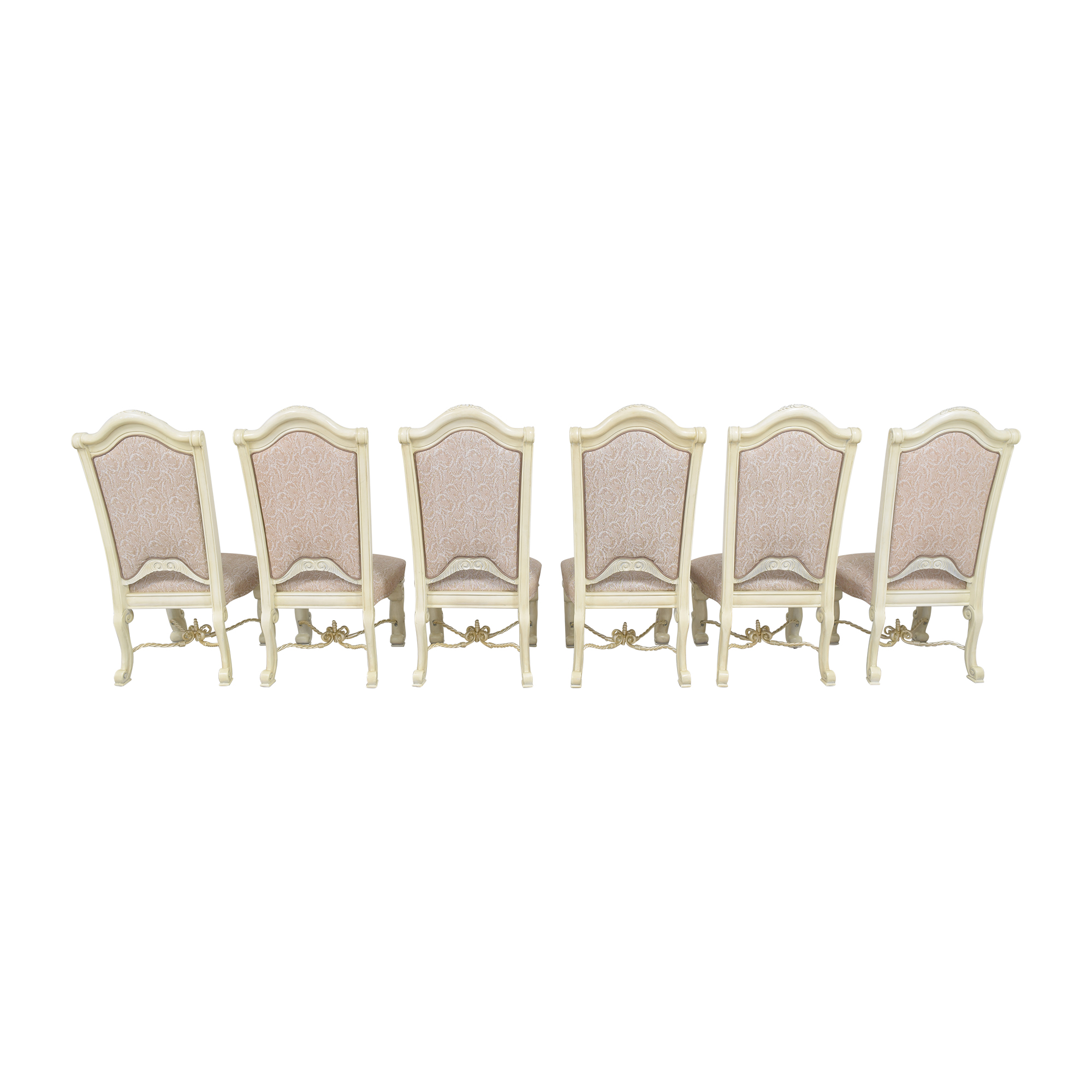 AICO Furniture Monte Carlo Snow Dining Side Chairs / Dining Chairs