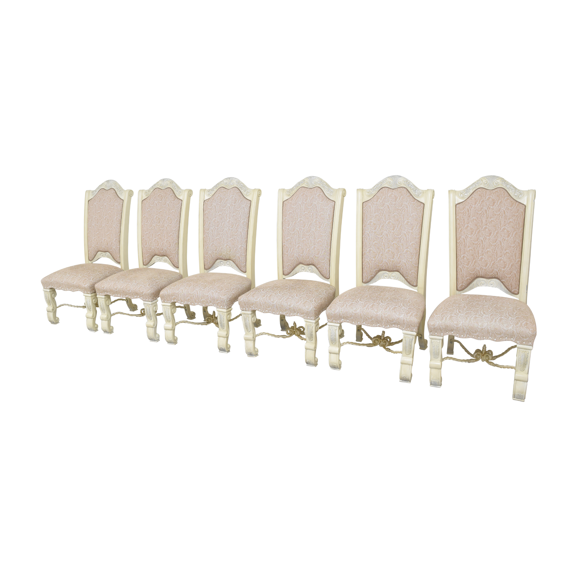 AICO Furniture Monte Carlo Snow Dining Side Chairs sale