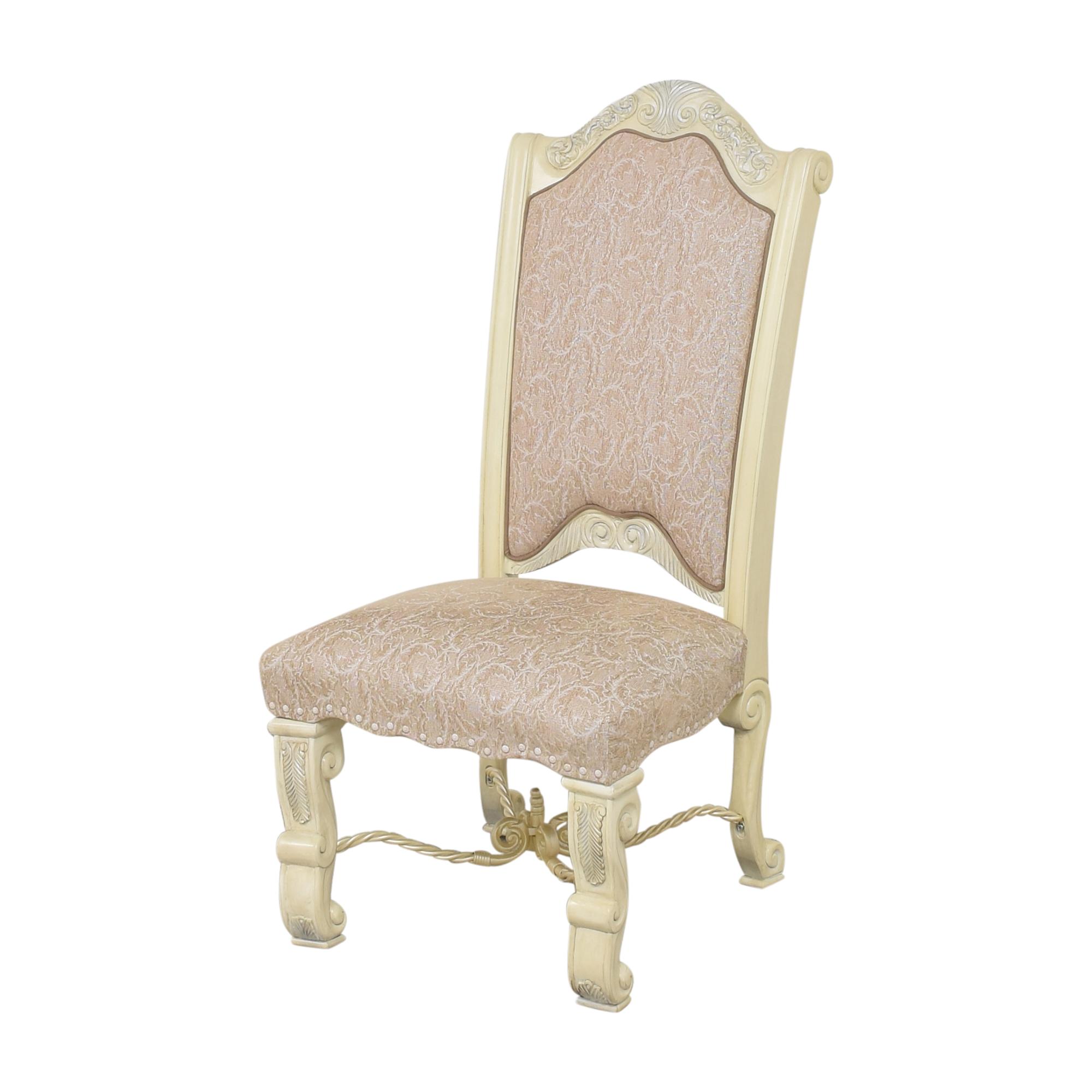 AICO AICO Furniture Monte Carlo Snow Dining Side Chairs nj