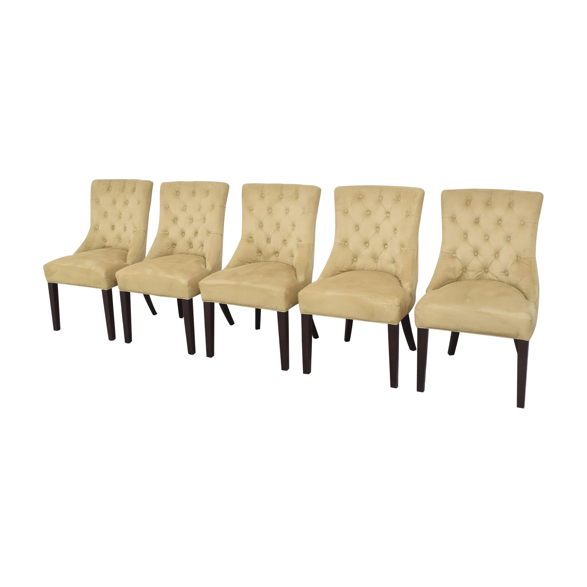 Pottery Barn Pottery Barn Hayes Tufted Dining Chairs used