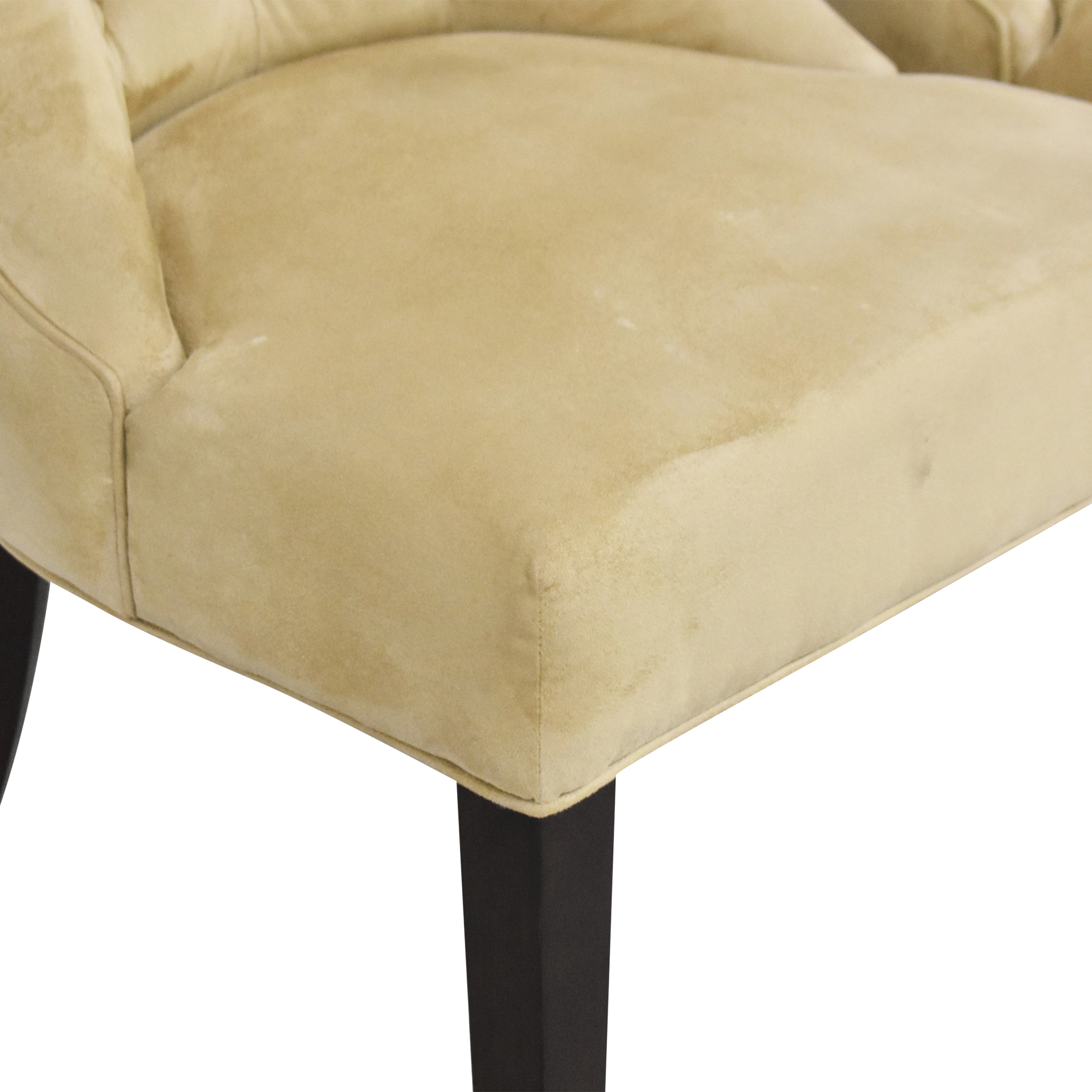 Pottery Barn Pottery Barn Hayes Tufted Dining Chairs dimensions