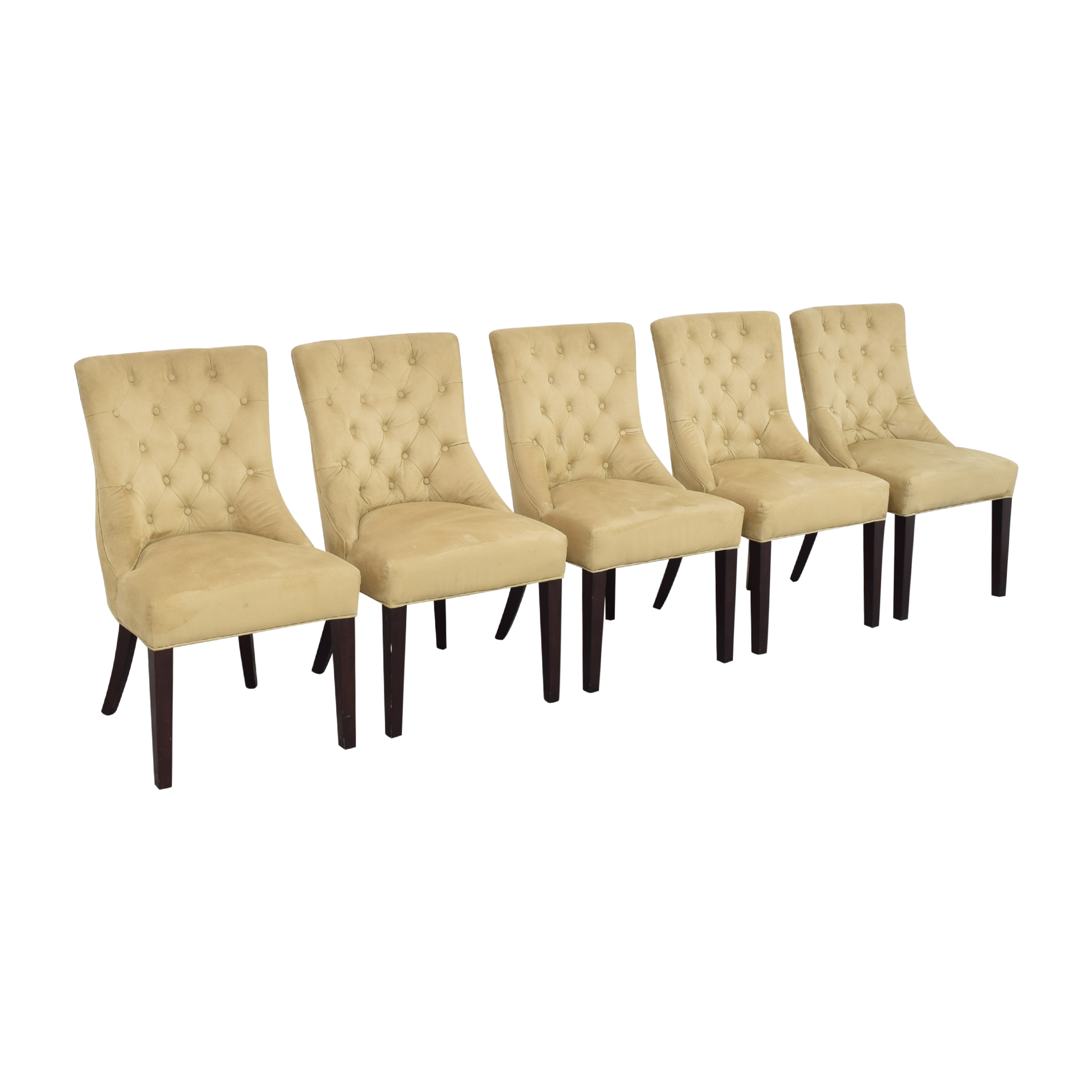Pottery Barn Hayes Tufted Dining Chairs sale