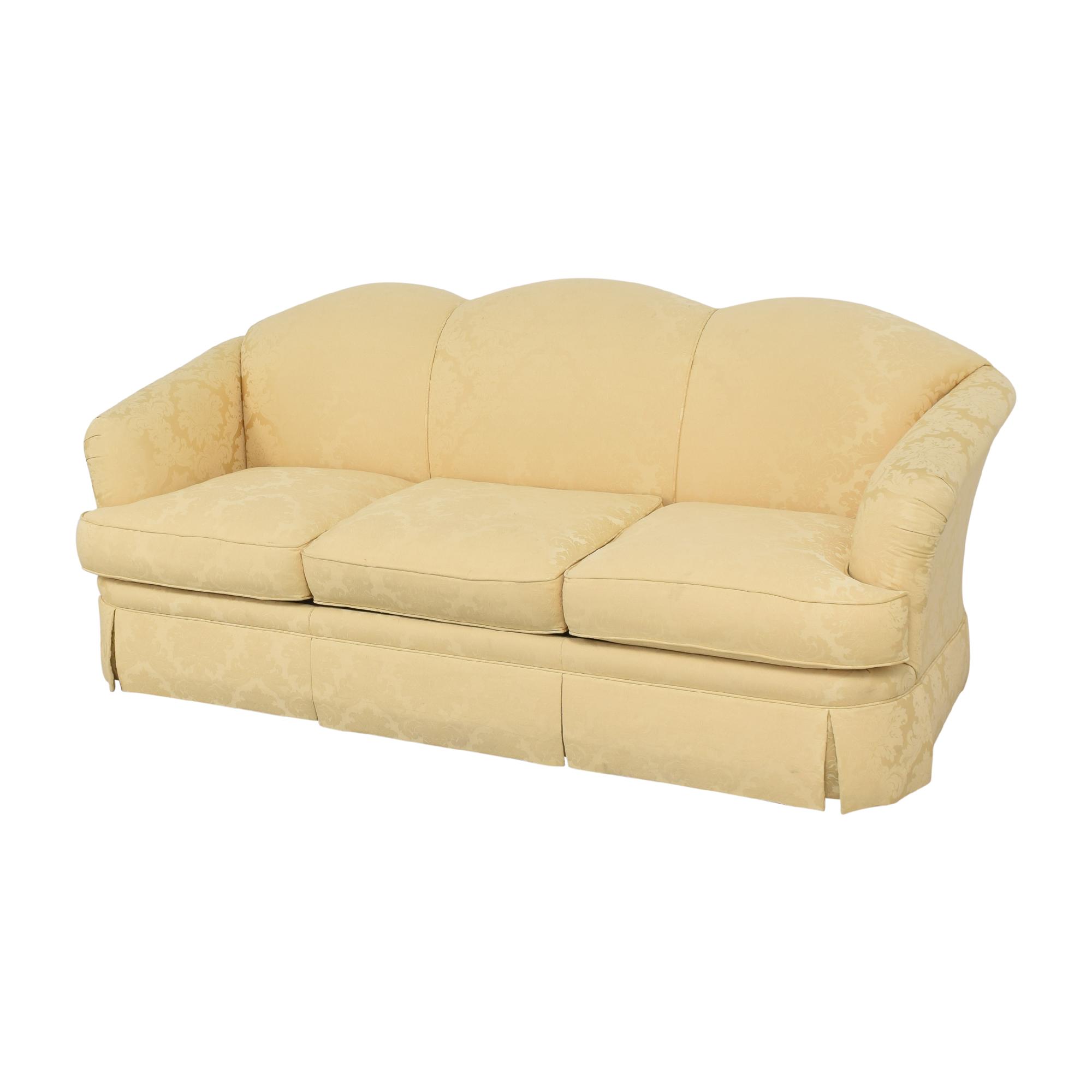 Thomasville Thomasville Scalloped Three Cushion Sofa ma