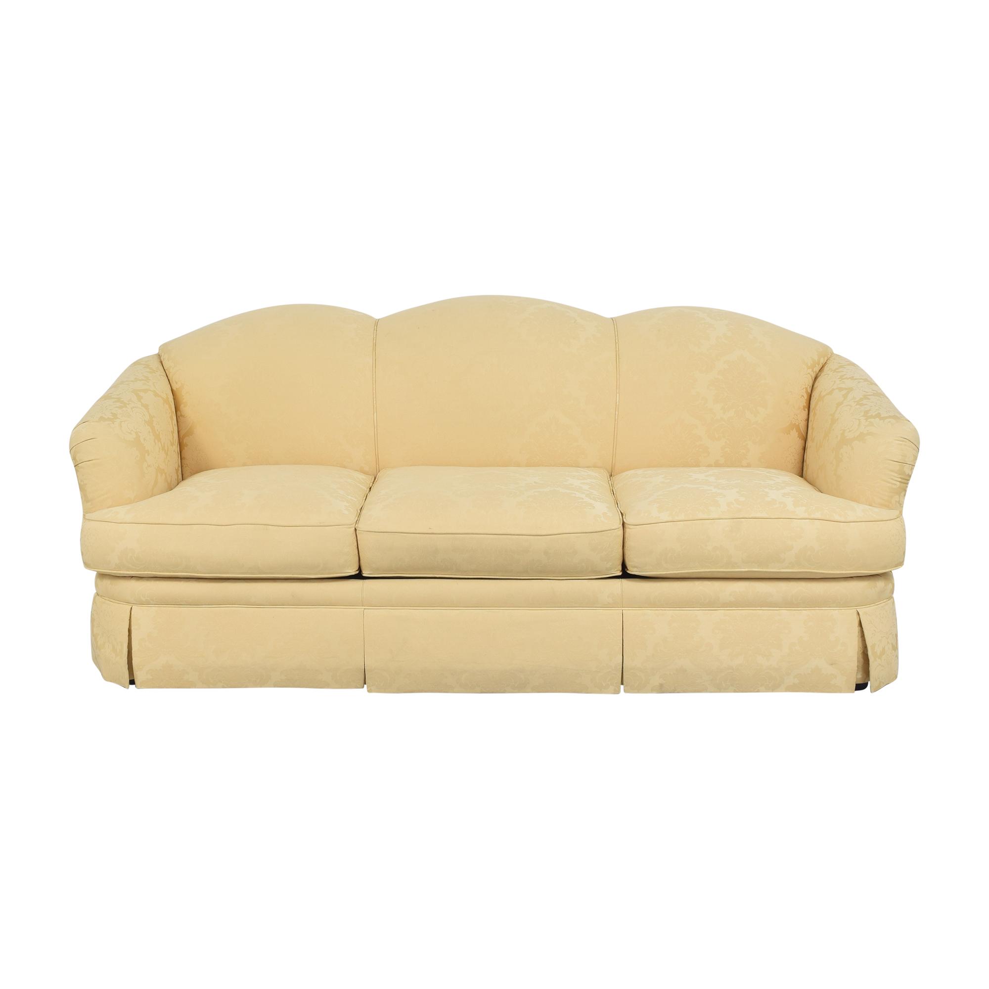 shop Thomasville Scalloped Three Cushion Sofa Thomasville Sofas