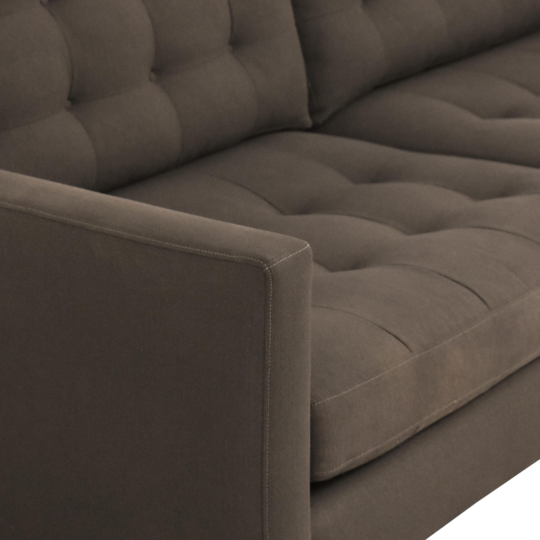 Crate & Barrel Petrie Midcentury Apartment Sofa / Sofas