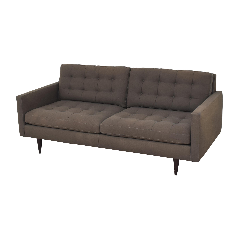 buy Crate & Barrel Crate & Barrel Petrie Midcentury Apartment Sofa online