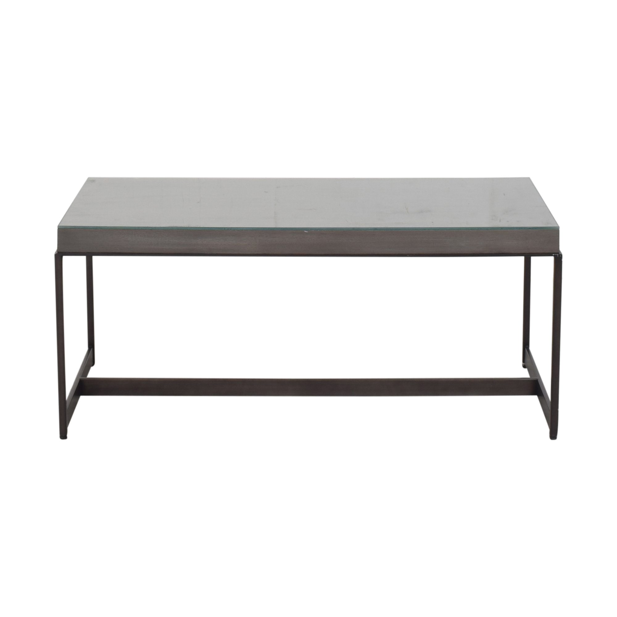 shop Ethan Allen Edmonds Rectangular Coffee Table Ethan Allen Coffee Tables