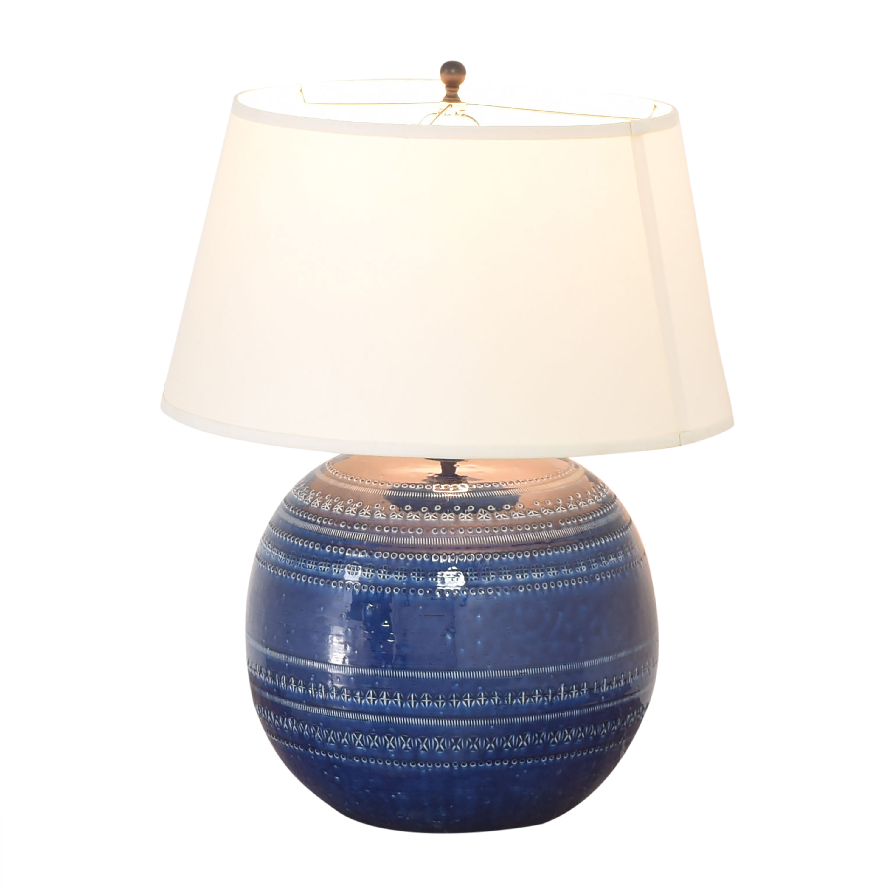 Ethan Allen Ethan Allen Romano Table Lamp blue and off white