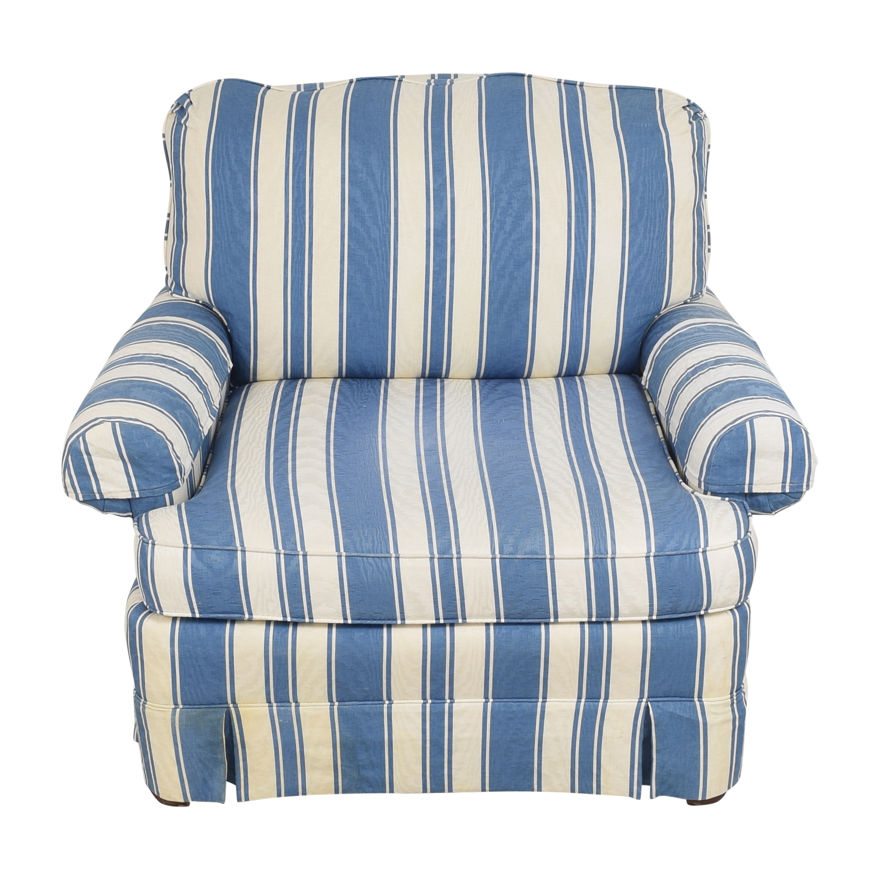 Clayton Marcus Clayton Marcus Striped Accent Chair second hand