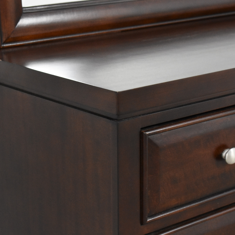 Raymour & Flanigan Twelve Drawer Dresser with Mirror Raymour & Flanigan