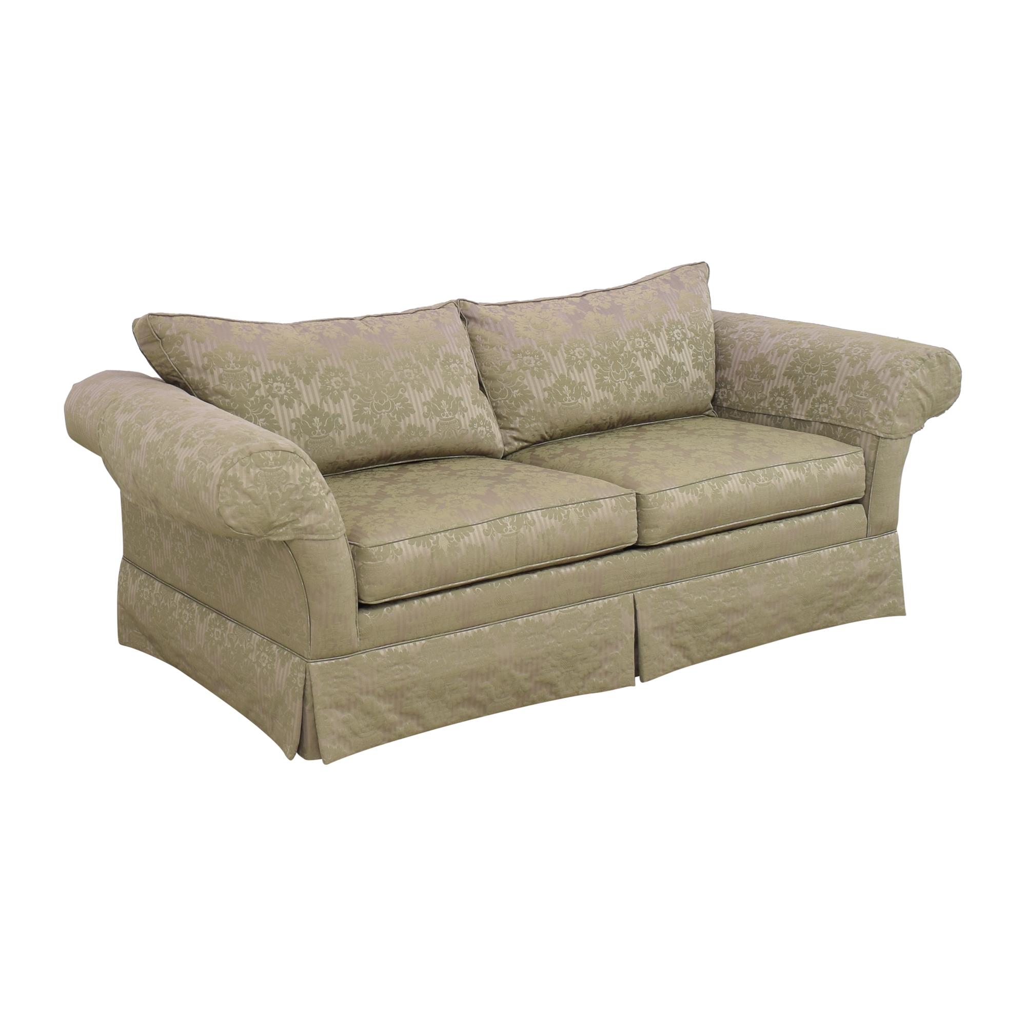 shop Ethan Allen Two Cushion Roll Arm Sofa Ethan Allen Sofas