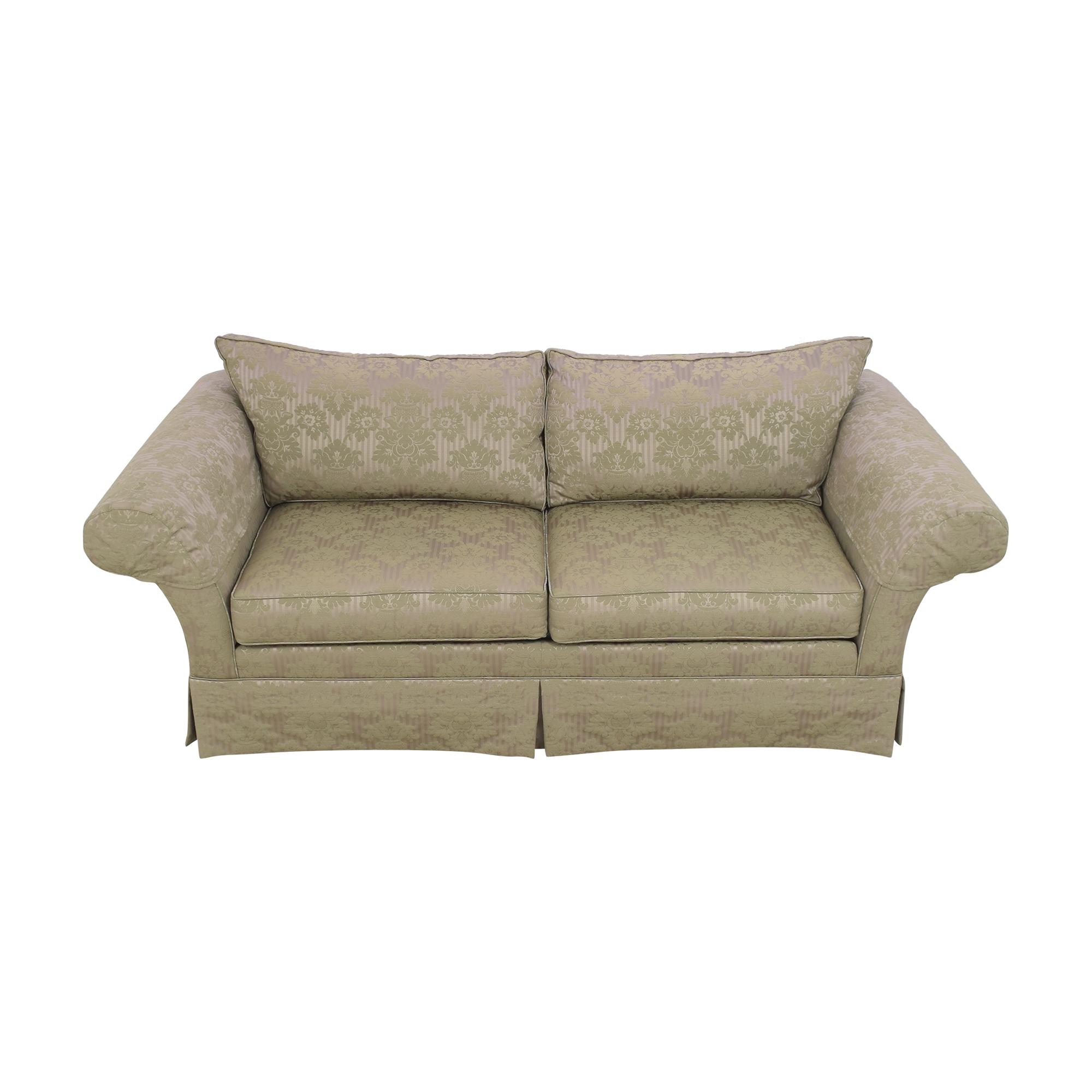 buy Ethan Allen Two Cushion Roll Arm Sofa Ethan Allen Sofas