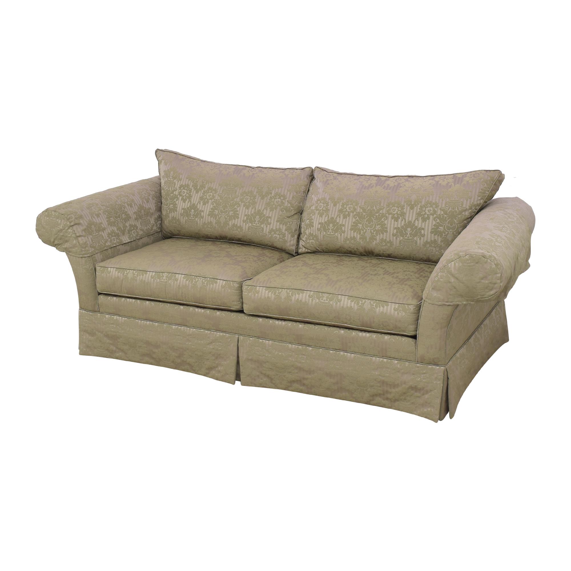 shop Ethan Allen Two Cushion Roll Arm Sofa Ethan Allen Classic Sofas