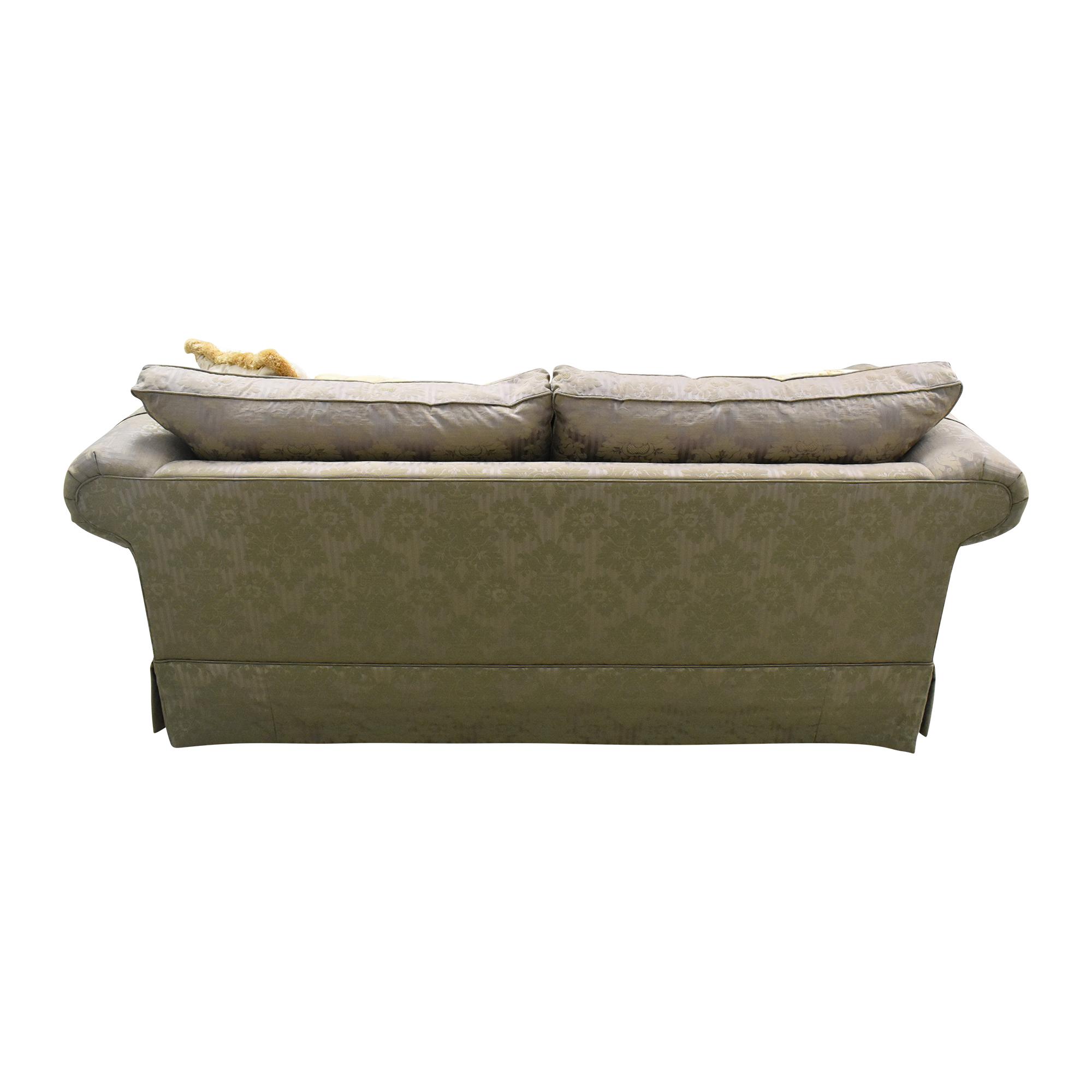 Ethan Allen Two Cushion Roll Arm Sofa / Classic Sofas