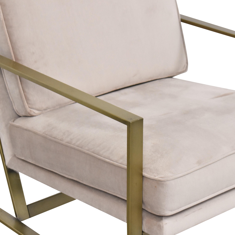 West Elm West Elm Metal Frame Upholstered Chair dimensions