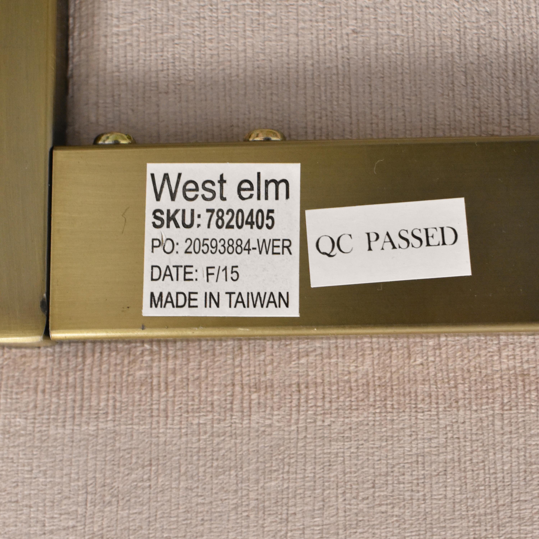 shop West Elm West Elm Metal Frame Upholstered Chair online