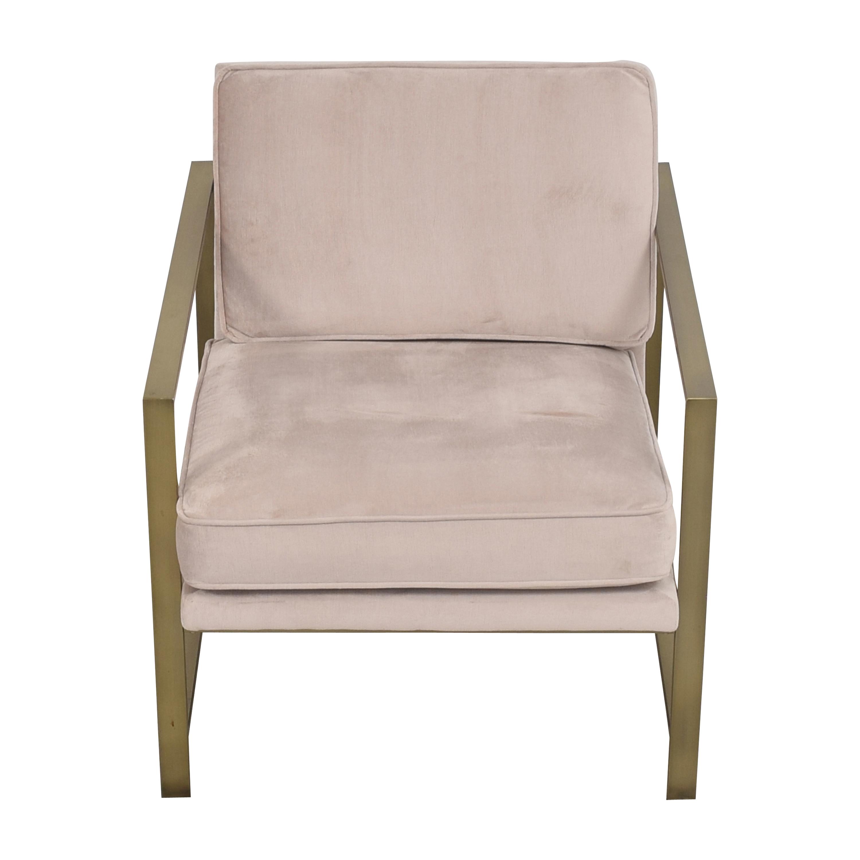 buy West Elm Metal Frame Upholstered Chair West Elm