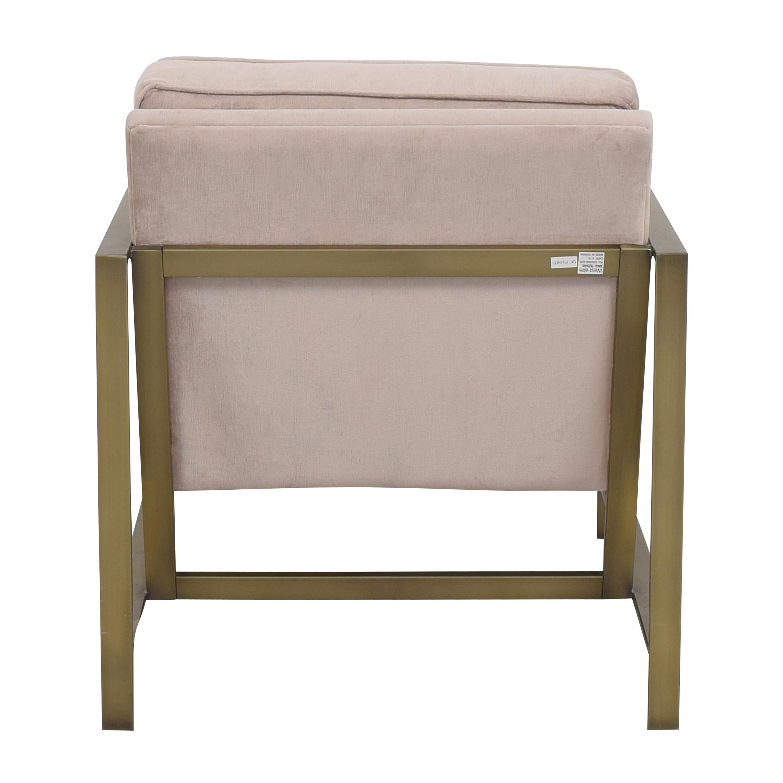 West Elm West Elm Metal Frame Upholstered Chair ct