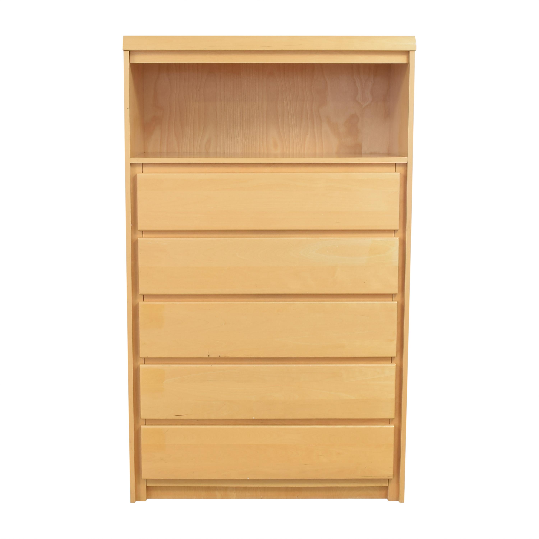 shop Bellini Five Drawer Dresser with Shelf Bellini Dressers