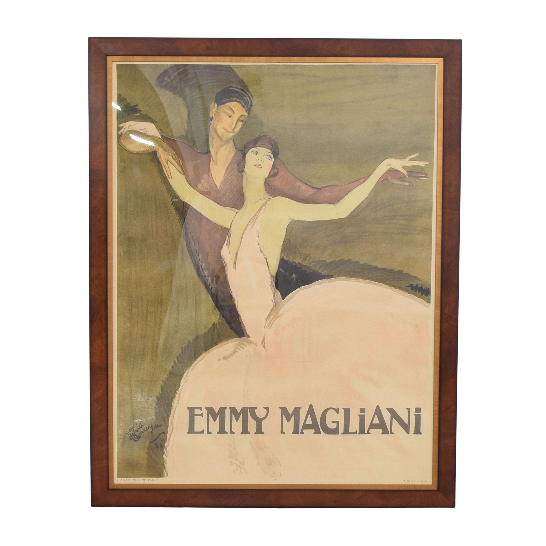 Ethan Allen Framed Emmy Magliani Print Wall Art / Wall Art