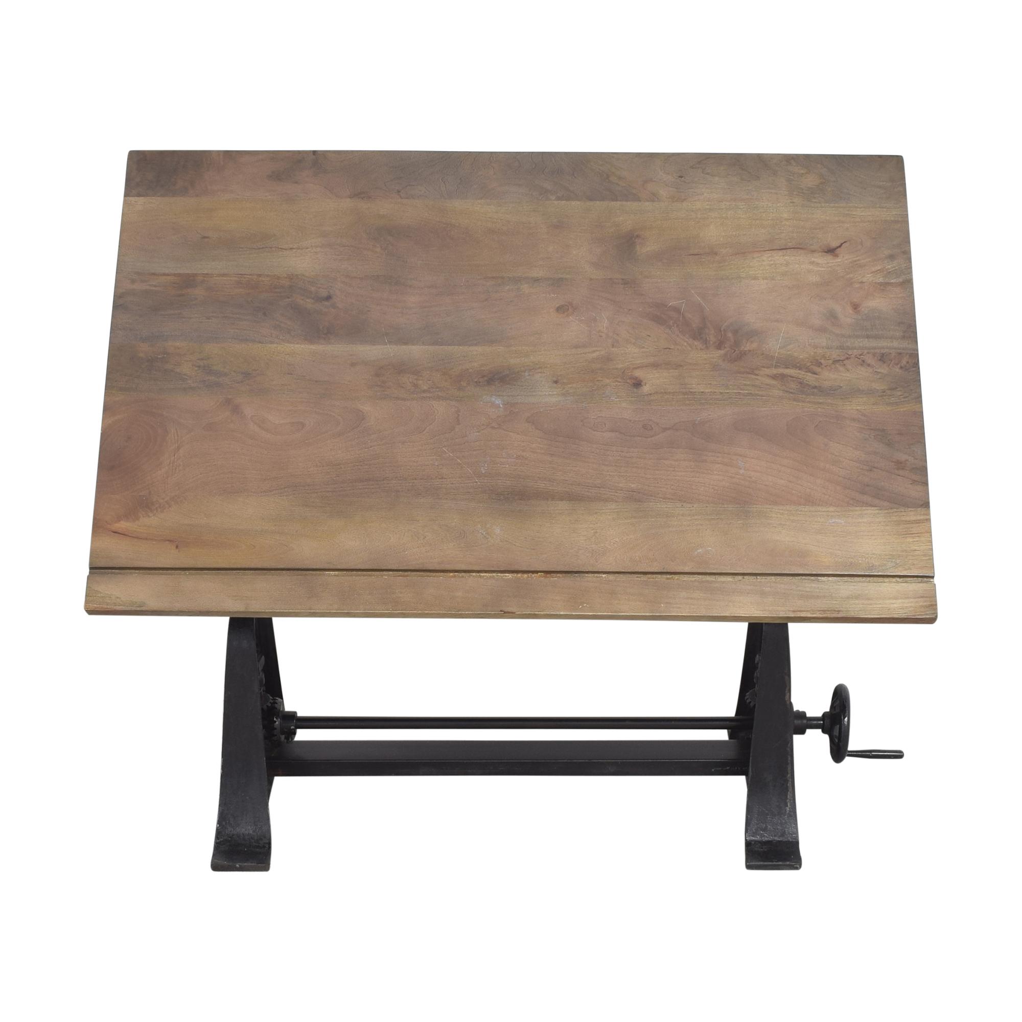 buy Restoration Hardware 1910 American Trestle Drafting Table Restoration Hardware