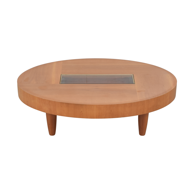 Ted Boerner Ted Boerner Modern Oval Coffee Table for sale