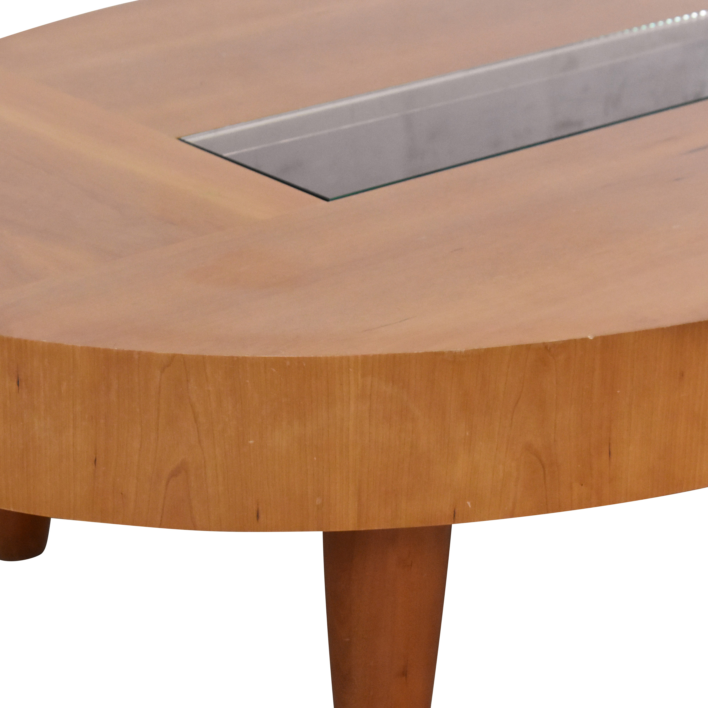 shop Ted Boerner Modern Oval Coffee Table Ted Boerner