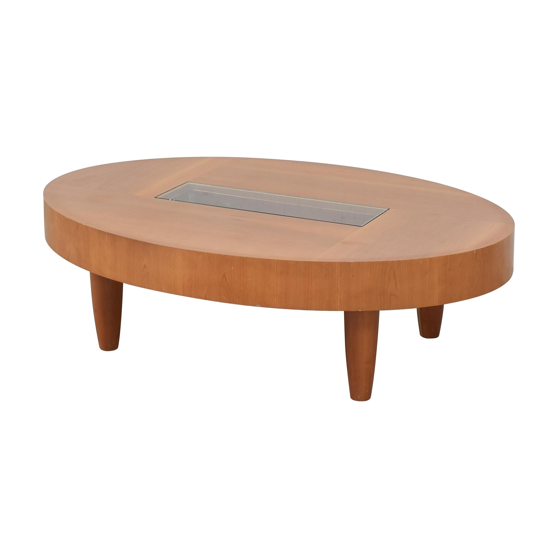 shop Ted Boerner Modern Oval Coffee Table Ted Boerner Tables
