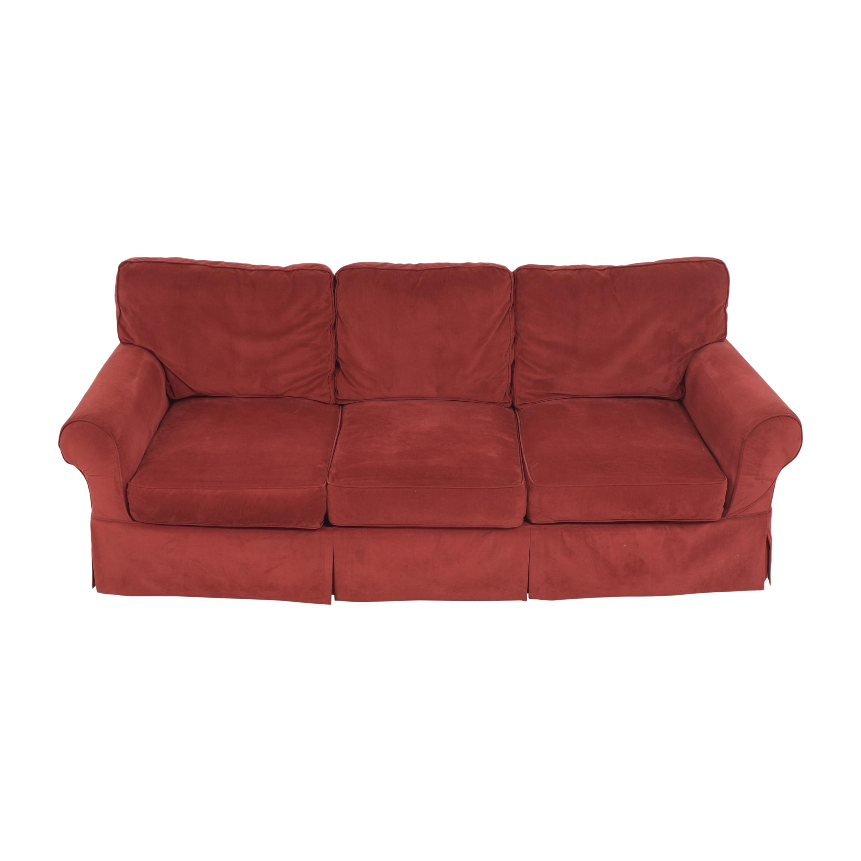 JC Penney Three Cushion Roll Arm Sofa sale