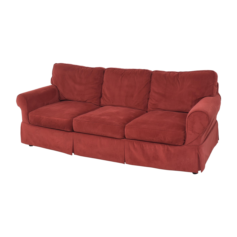 JC Penney JC Penney Three Cushion Roll Arm Sofa ma