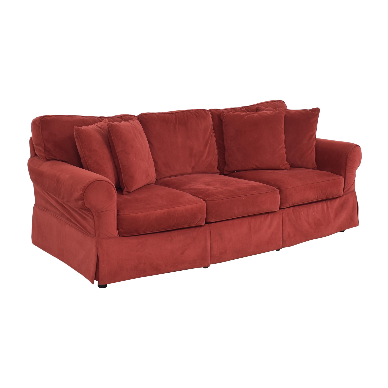 buy JC Penney Three Cushion Roll Arm Sofa JC Penney Classic Sofas