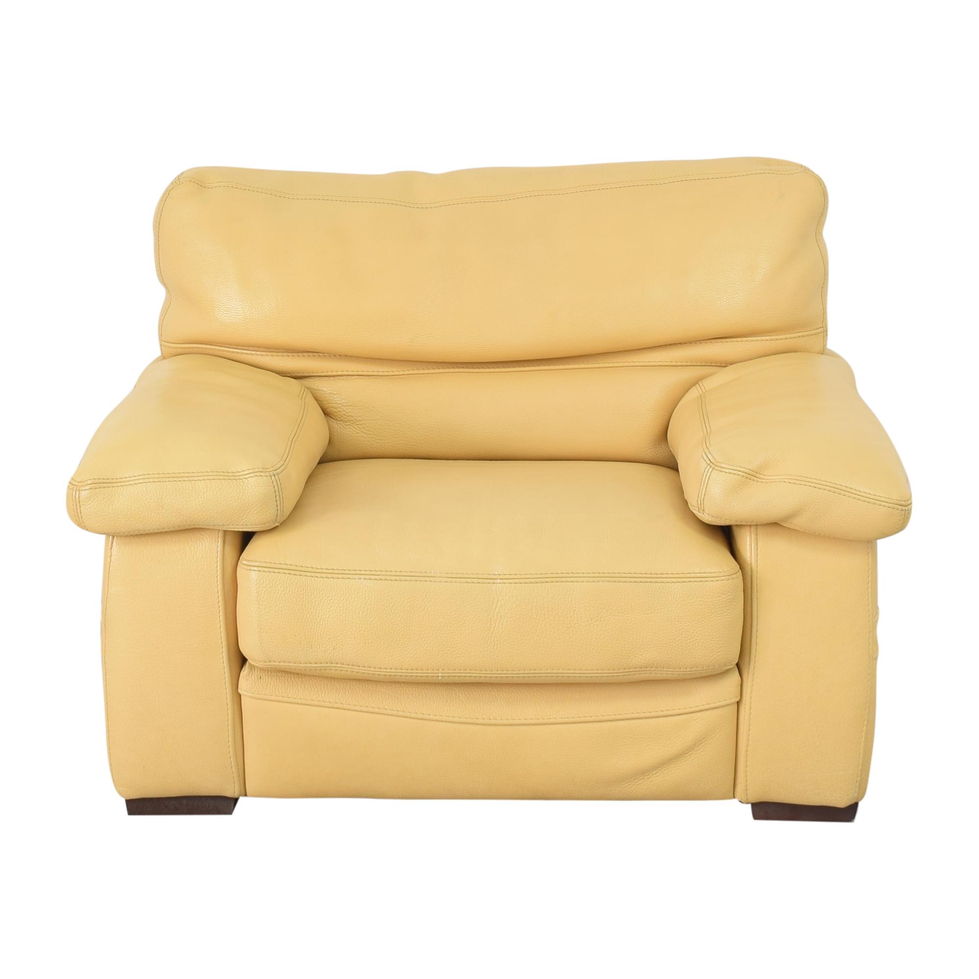Roche Bobois Roche Bobois Accent Armchair with Ottoman for sale