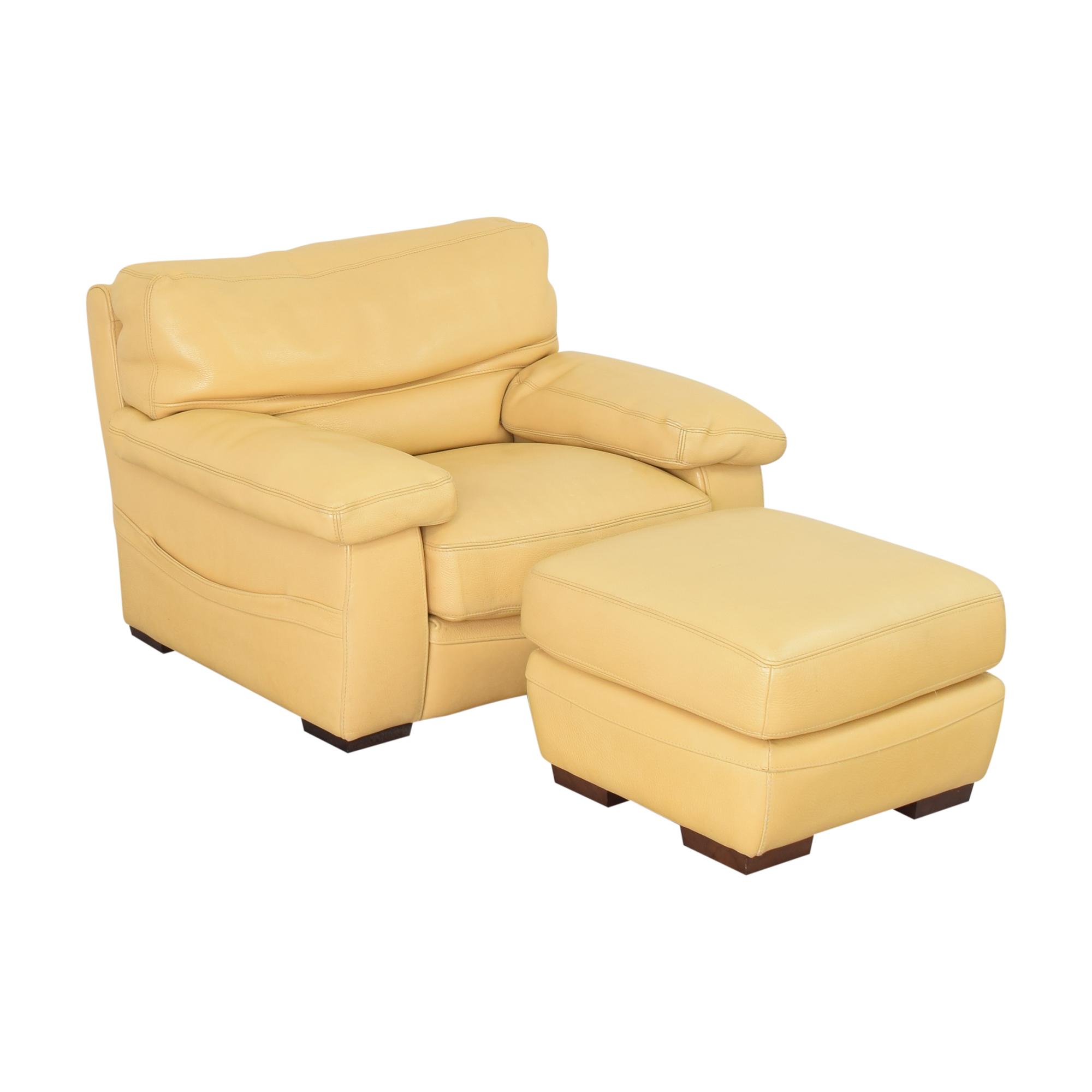Roche Bobois Accent Armchair with Ottoman sale