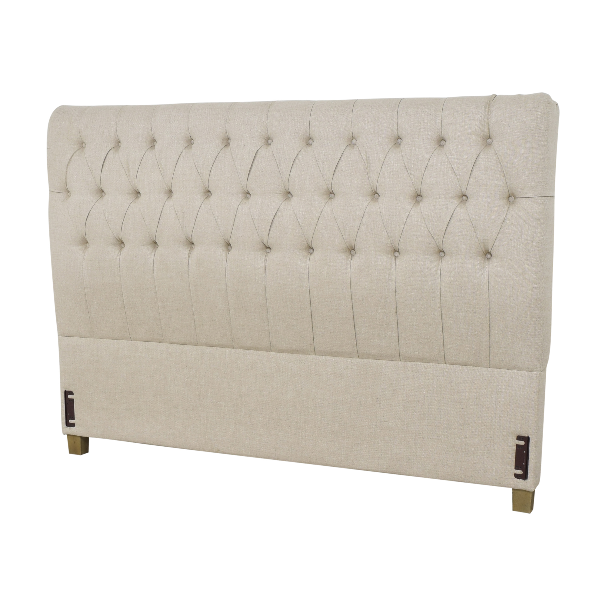 Restoration Hardware Tufted King Headboard / Beds