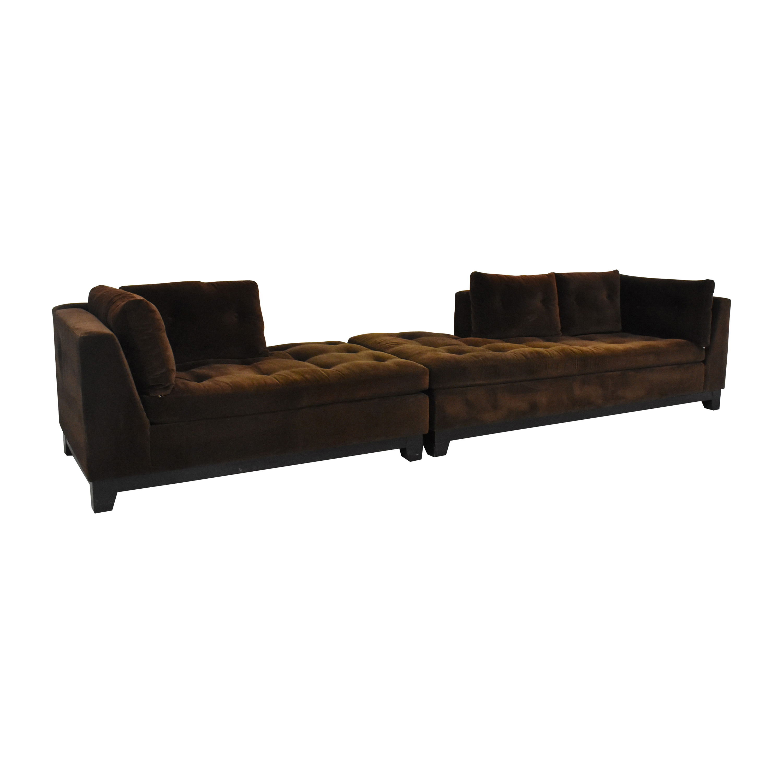 ABC Carpet & Home ABC Carpet & Home Tacchni Chaise Sectional Sofa used