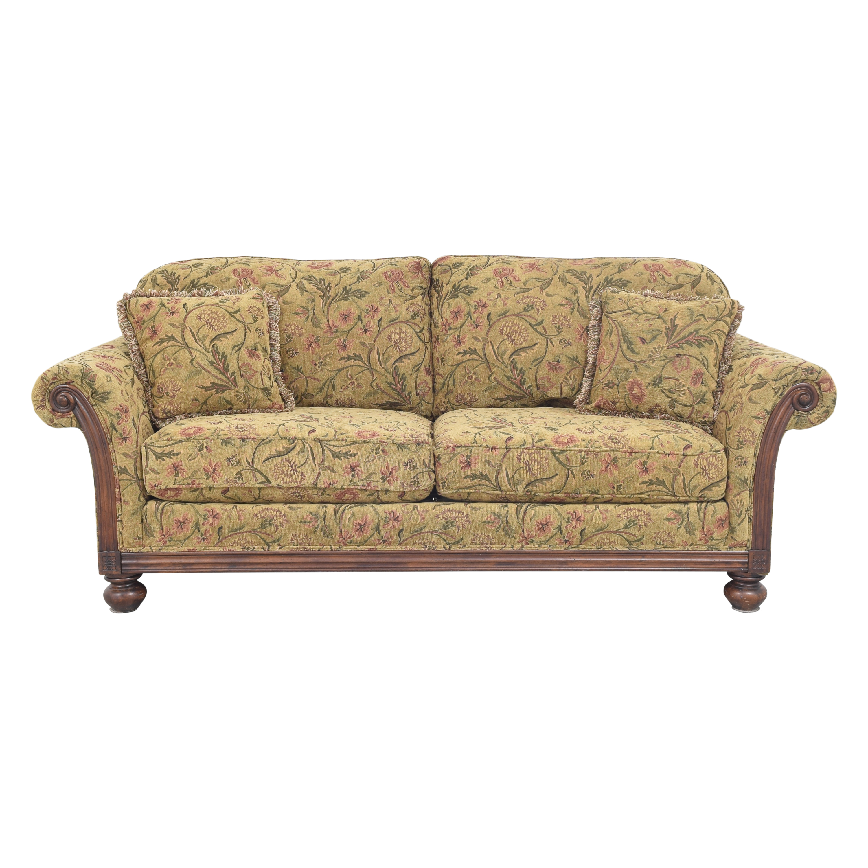 Clayton Marcus Clayton Marcus Floral Roll Arm Sofa price